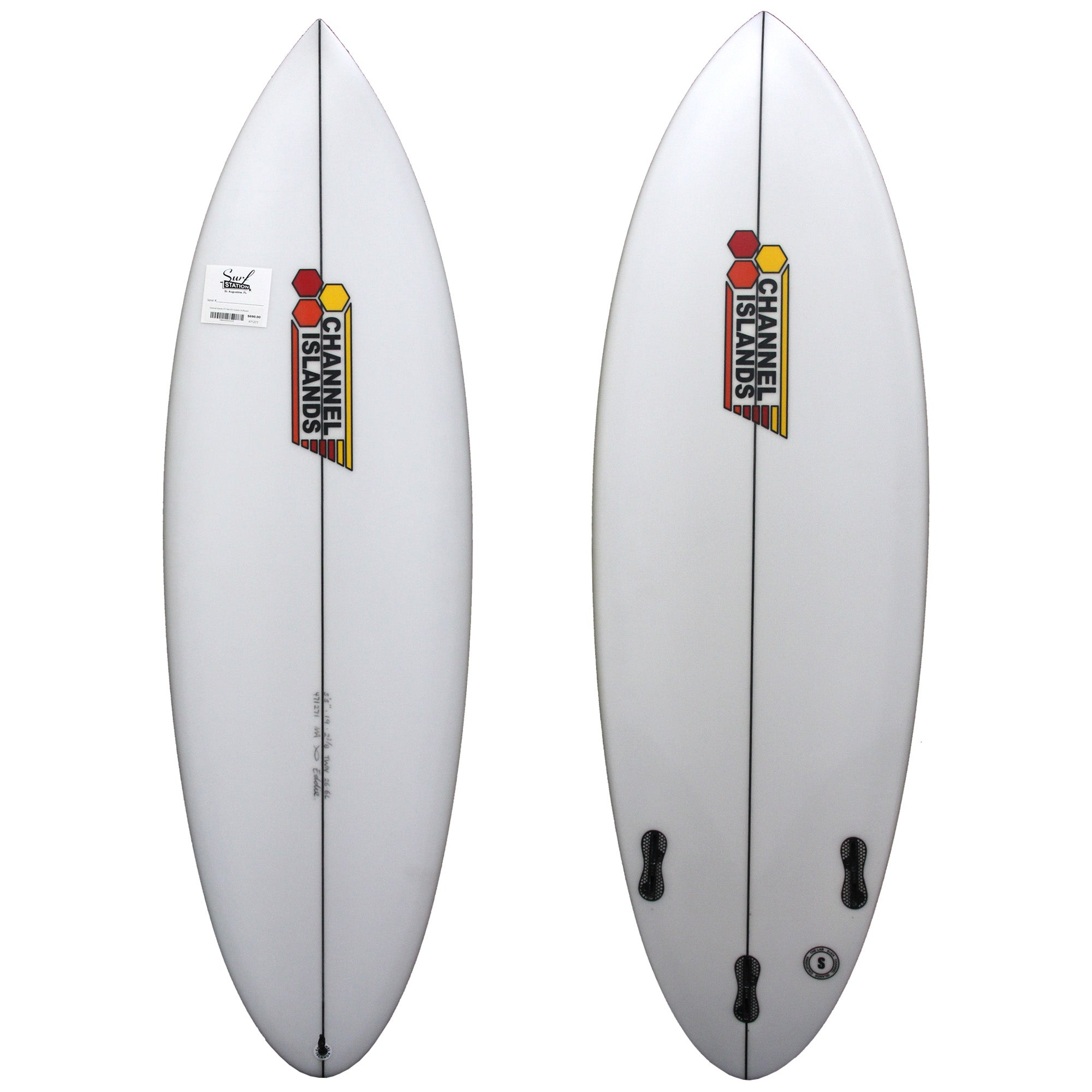 Channel Islands 5'5 Twin Fin Custom Surfboard - FCS II