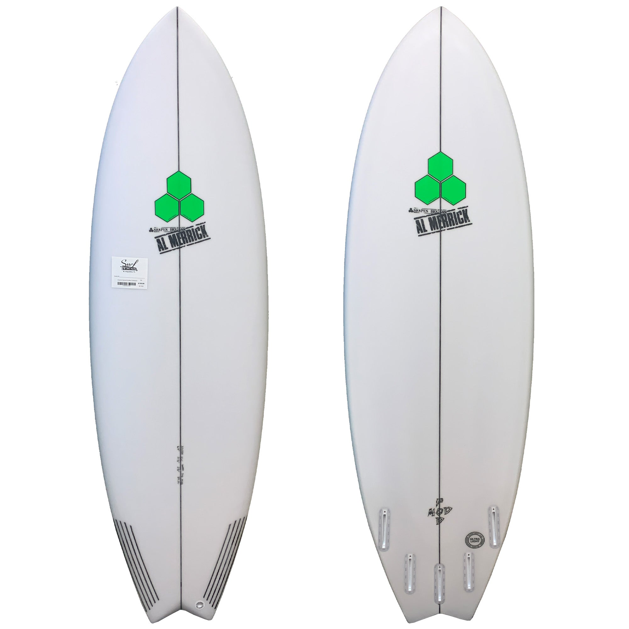 Channel Islands Pod Mod Surfboard - Futures