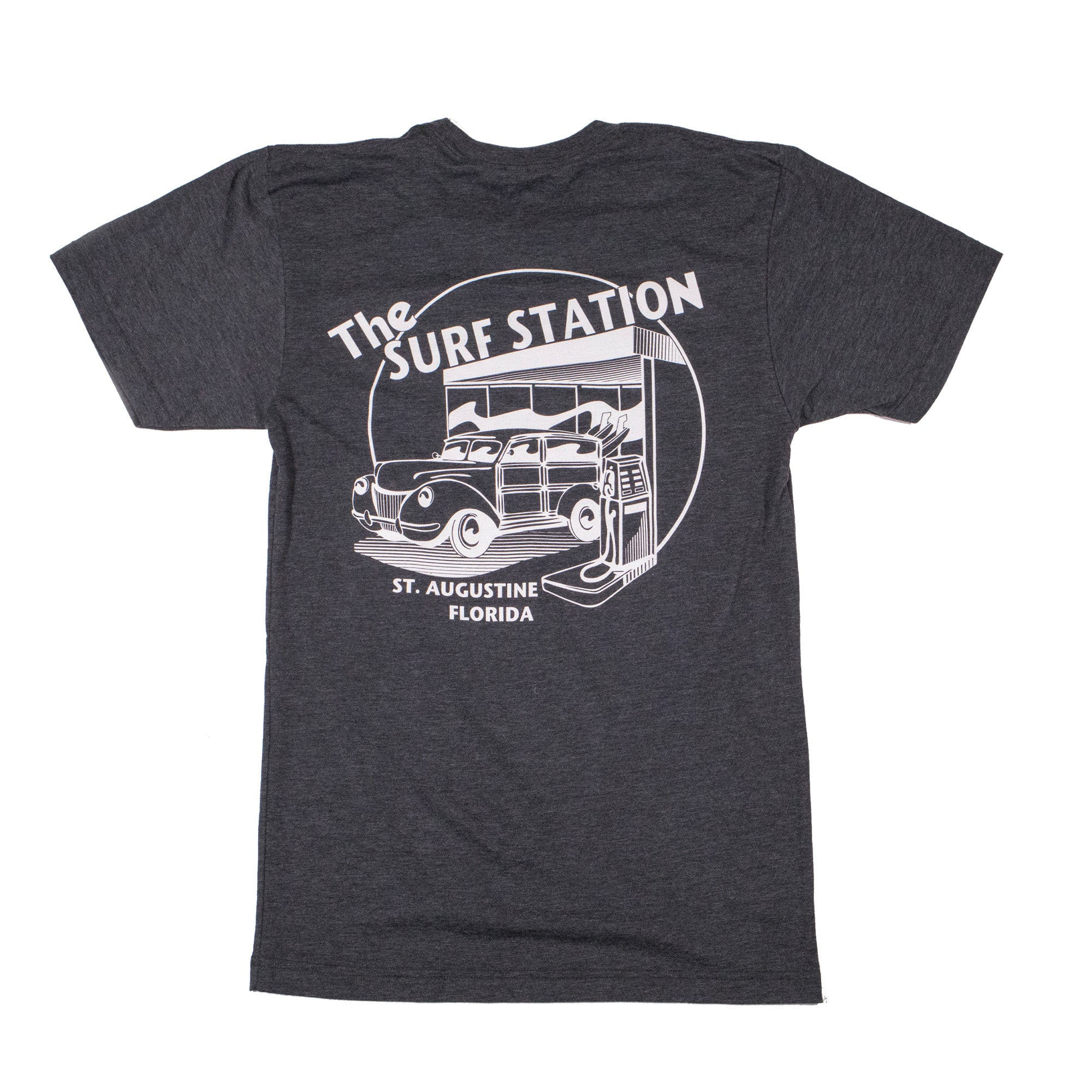 Surf Station Premium Circle Woody Men's S/S T-Shirt