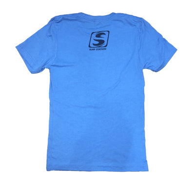 Surf Station Distressed Circle Men's S/S T-Shirt