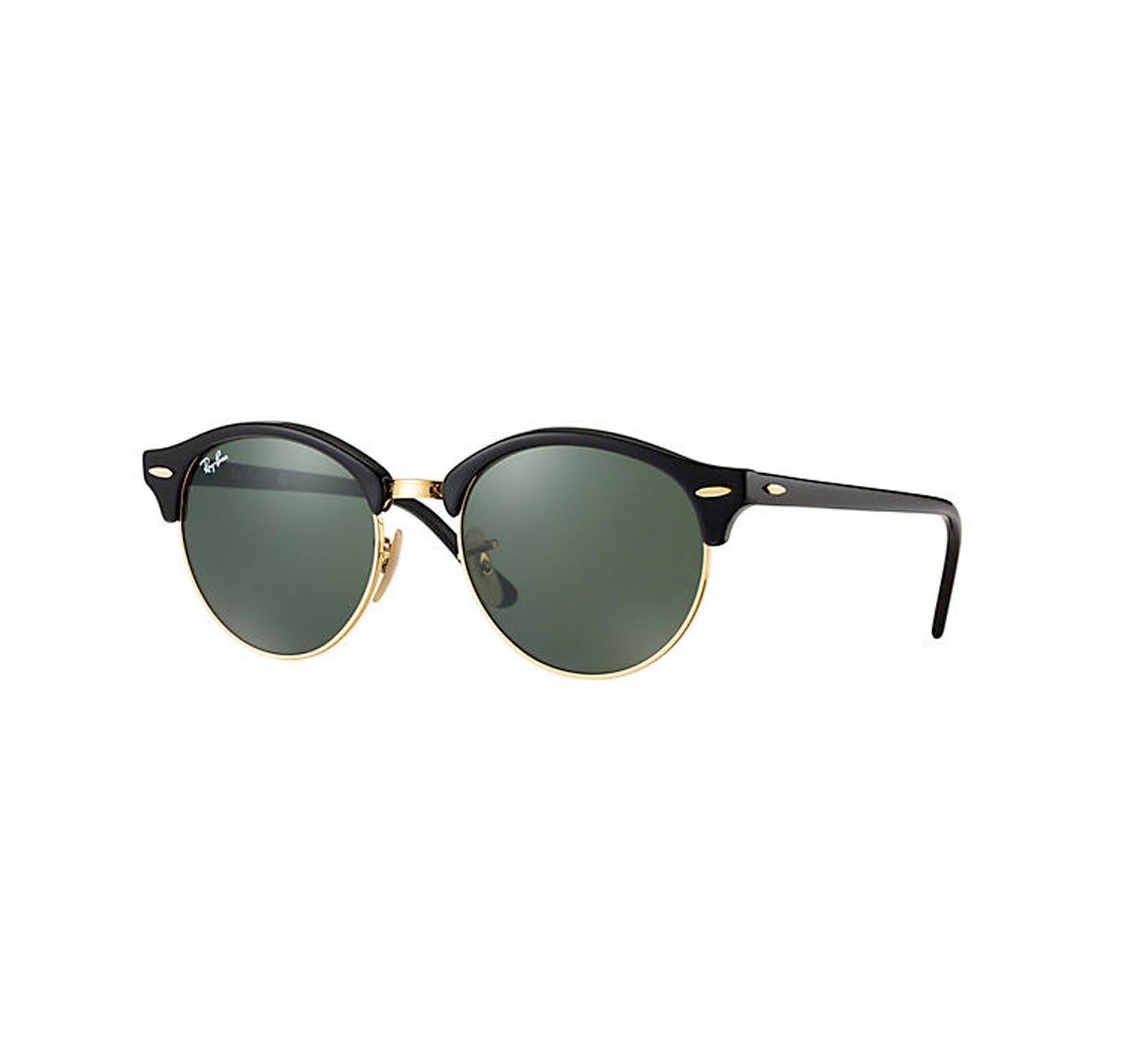 Ray-Ban Clubround Men's Sunglasses - Black/Green
