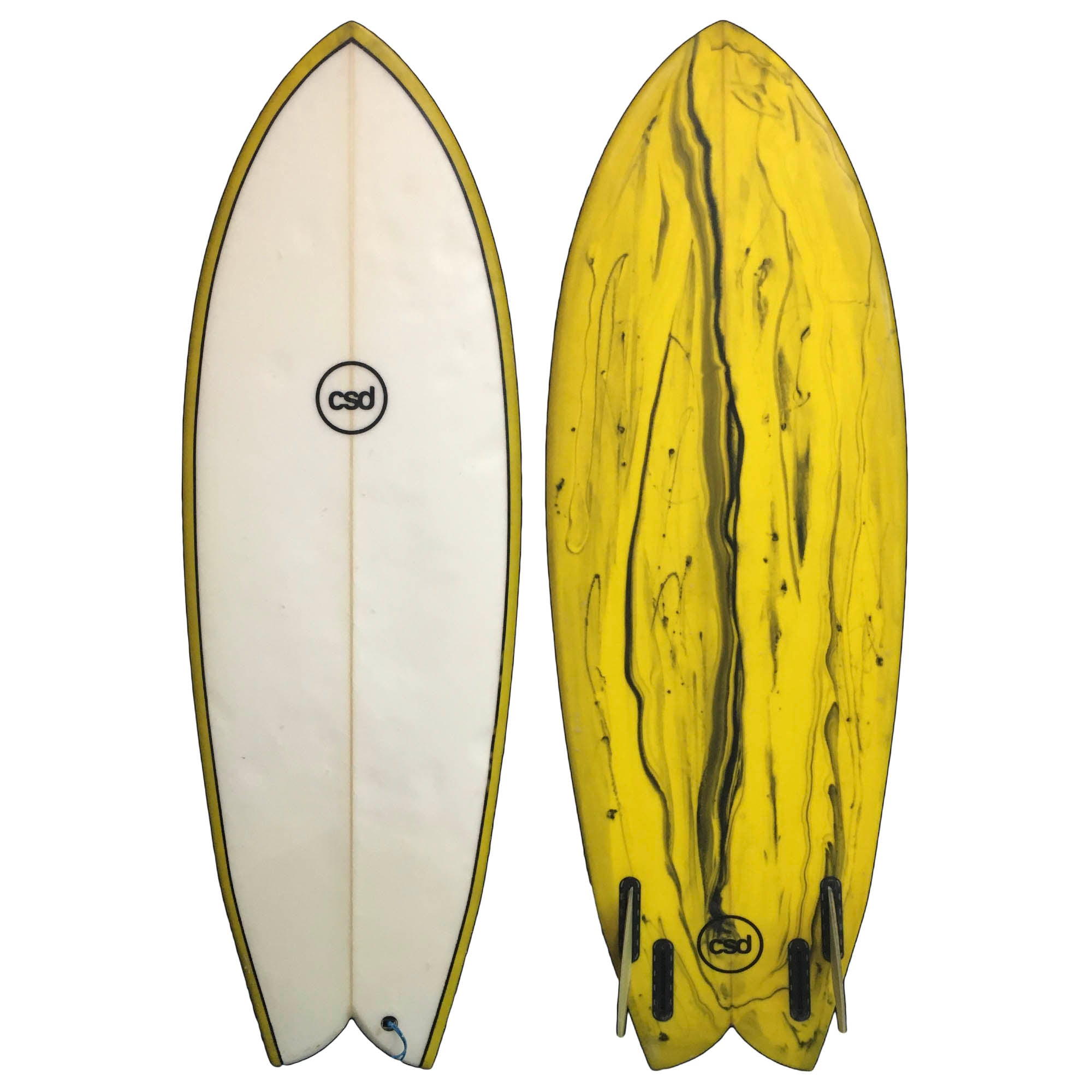 CSD Round Nose Fish Retro 5'1 Used Surfboard