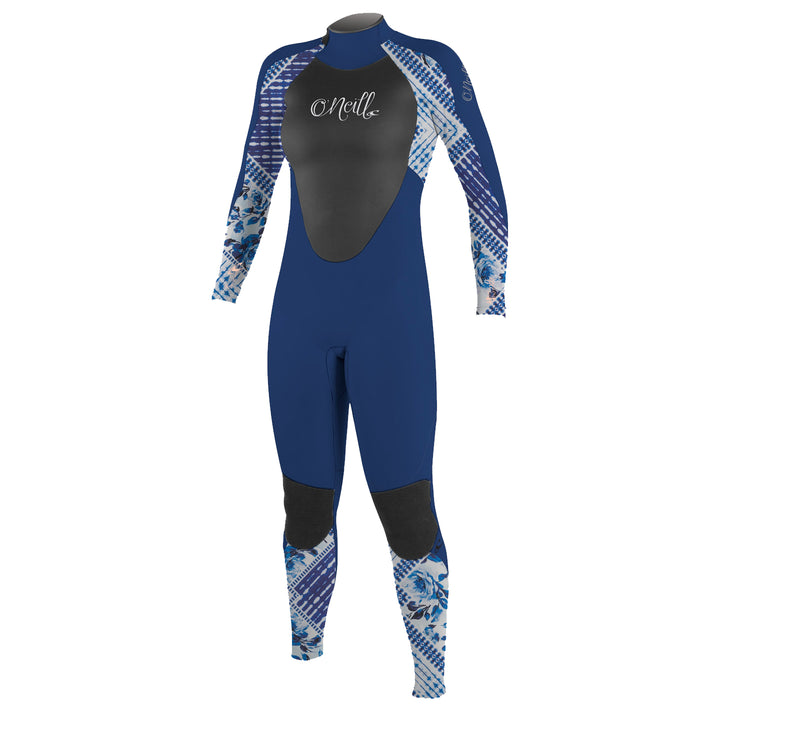 O'Neill Epic 3/2 Youth Girl's L/S Fullsuit Wetsuit, Navy, 12