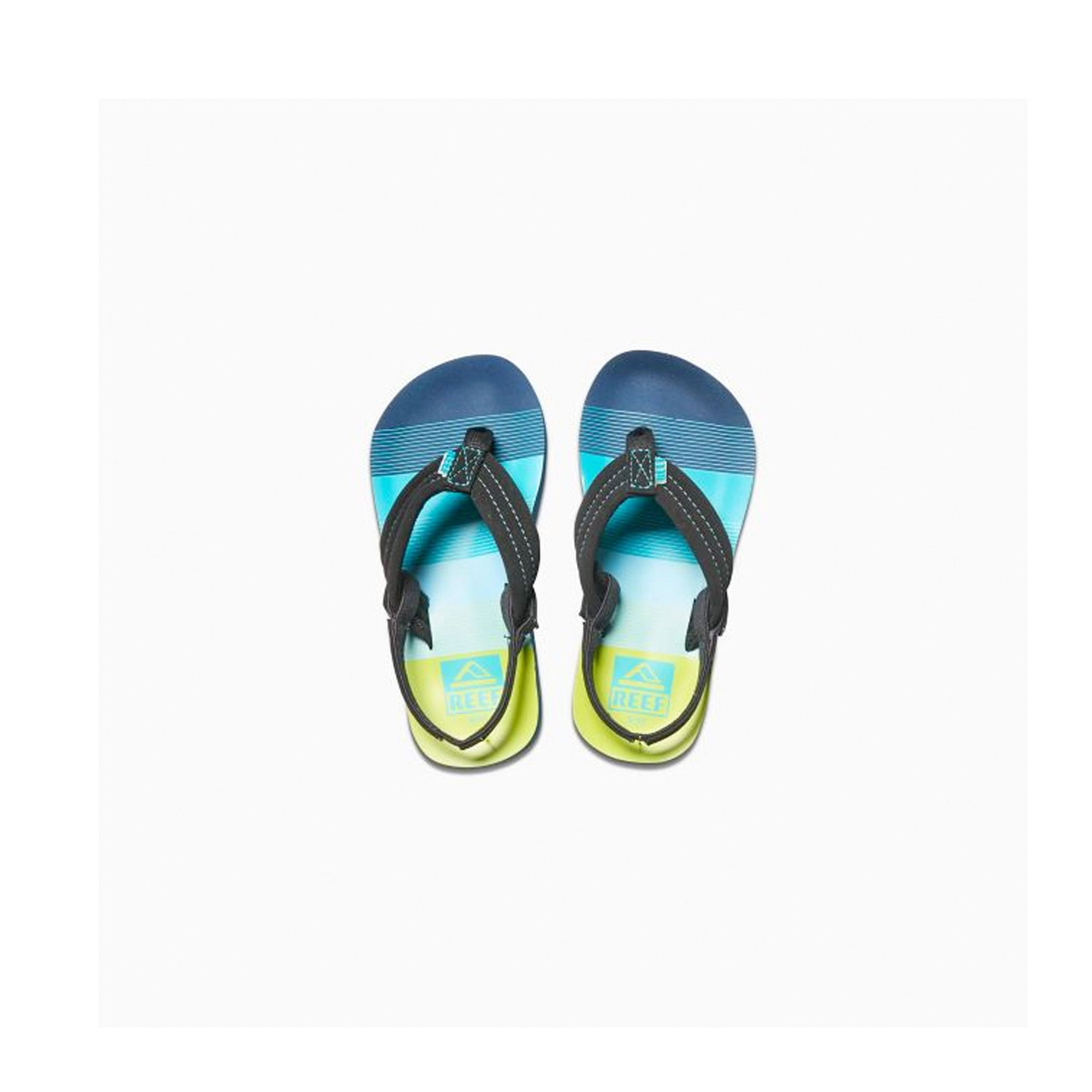 Reef Little Ahi Youth Boy's Sandals - Aqua/Green