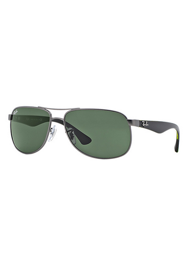 Ray-Ban 3502 Classic Men's Sunglasses - Matte Gunmetal/Green