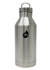 Mizu V6 Water Bottle With Black Print/Steel Cap - Stainless