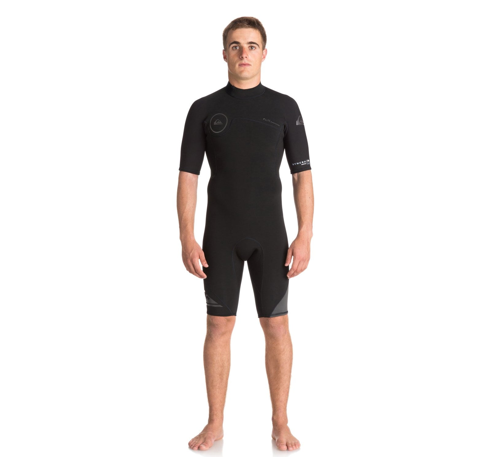Quiksilver Syncro 2mm Back-Zip Men's S/S Springsuit Wetsuit