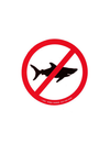 No Sharks Allowed Sticker