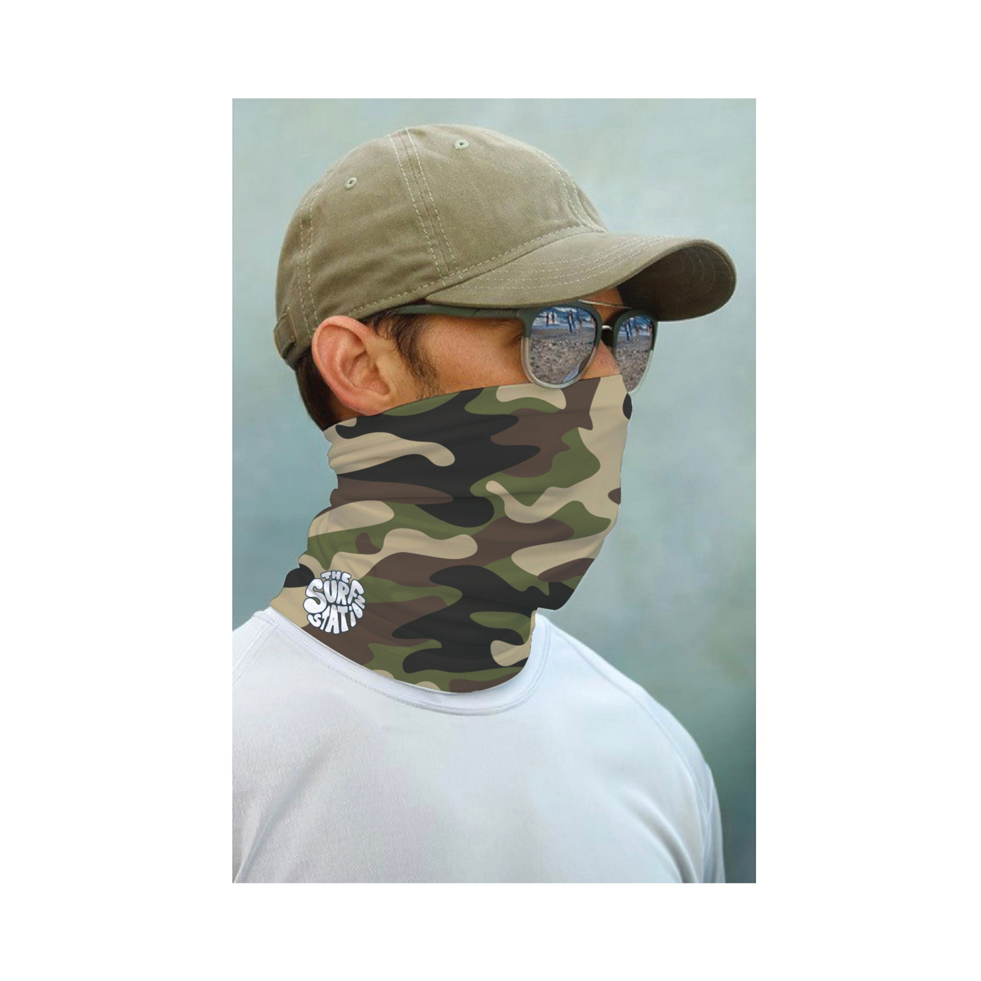 Surf Station Face Guard - Camo