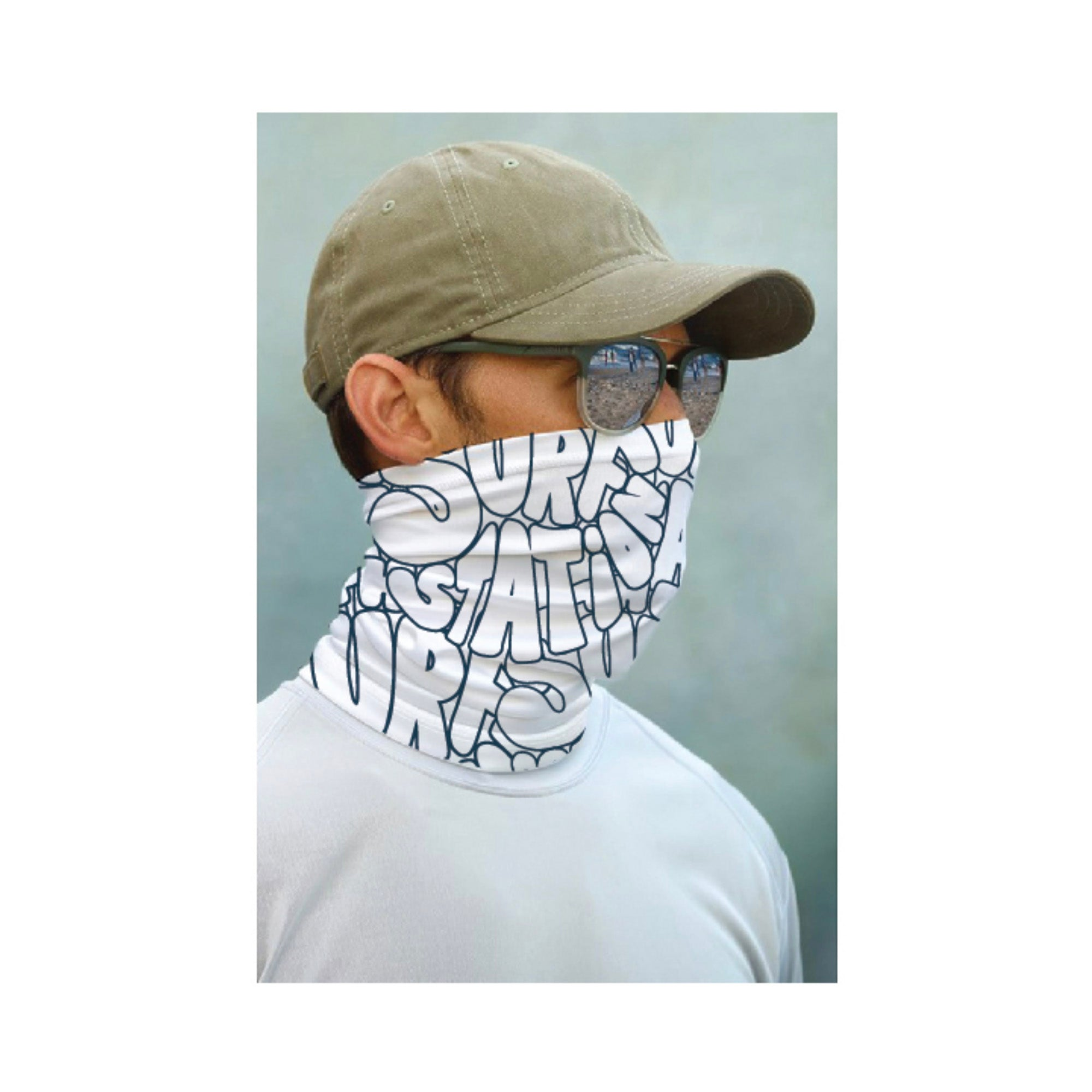 Surf Station Face Guard - Navy/White