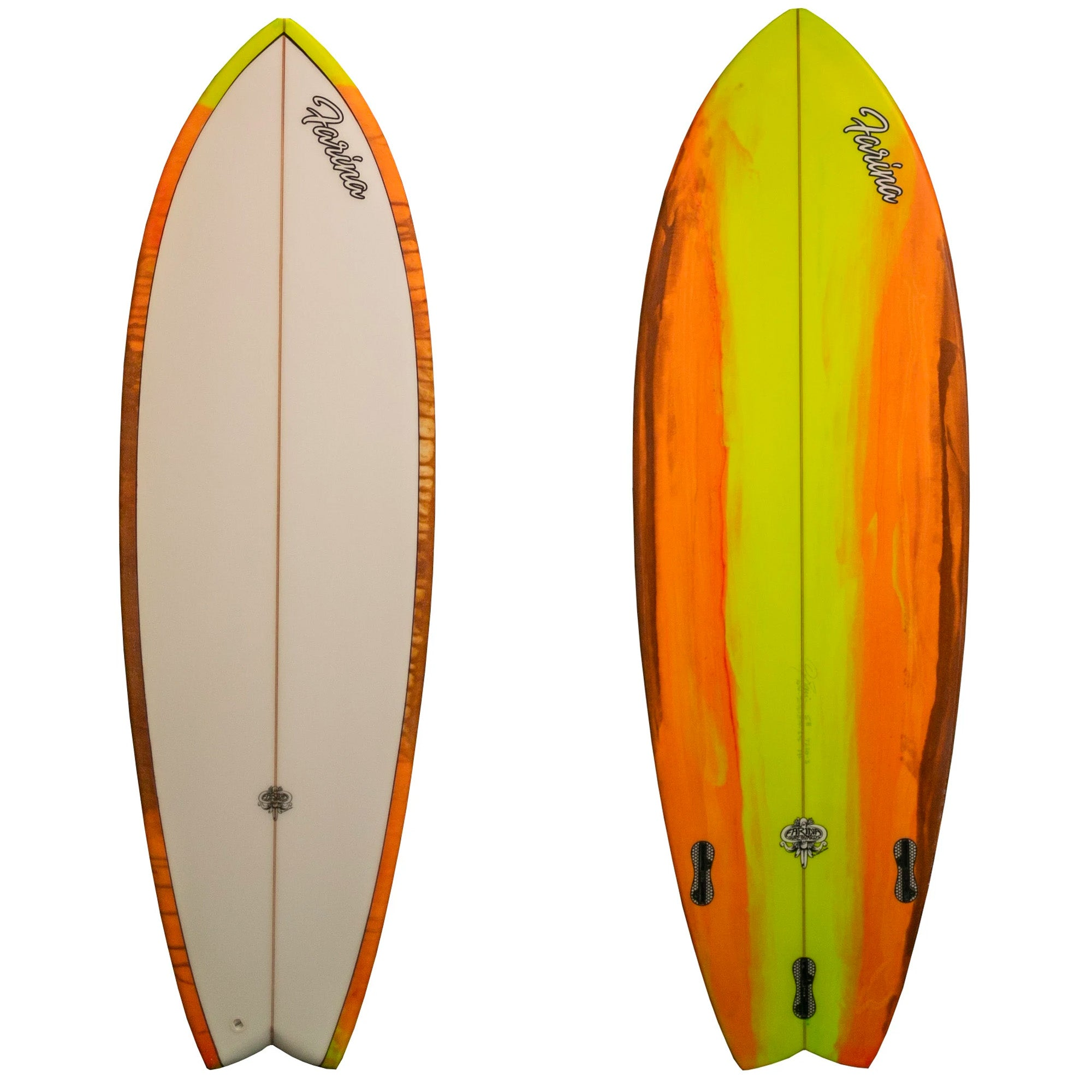 Farina Handcrafted 5'8 Fish Surfboard