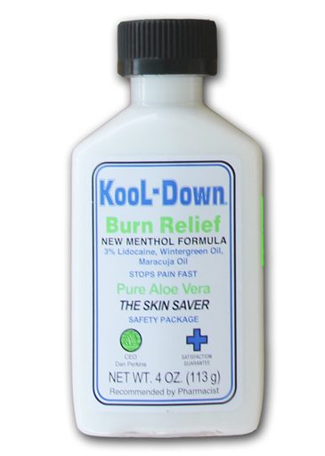Kool-Down New Menthol Formula Burn Relief