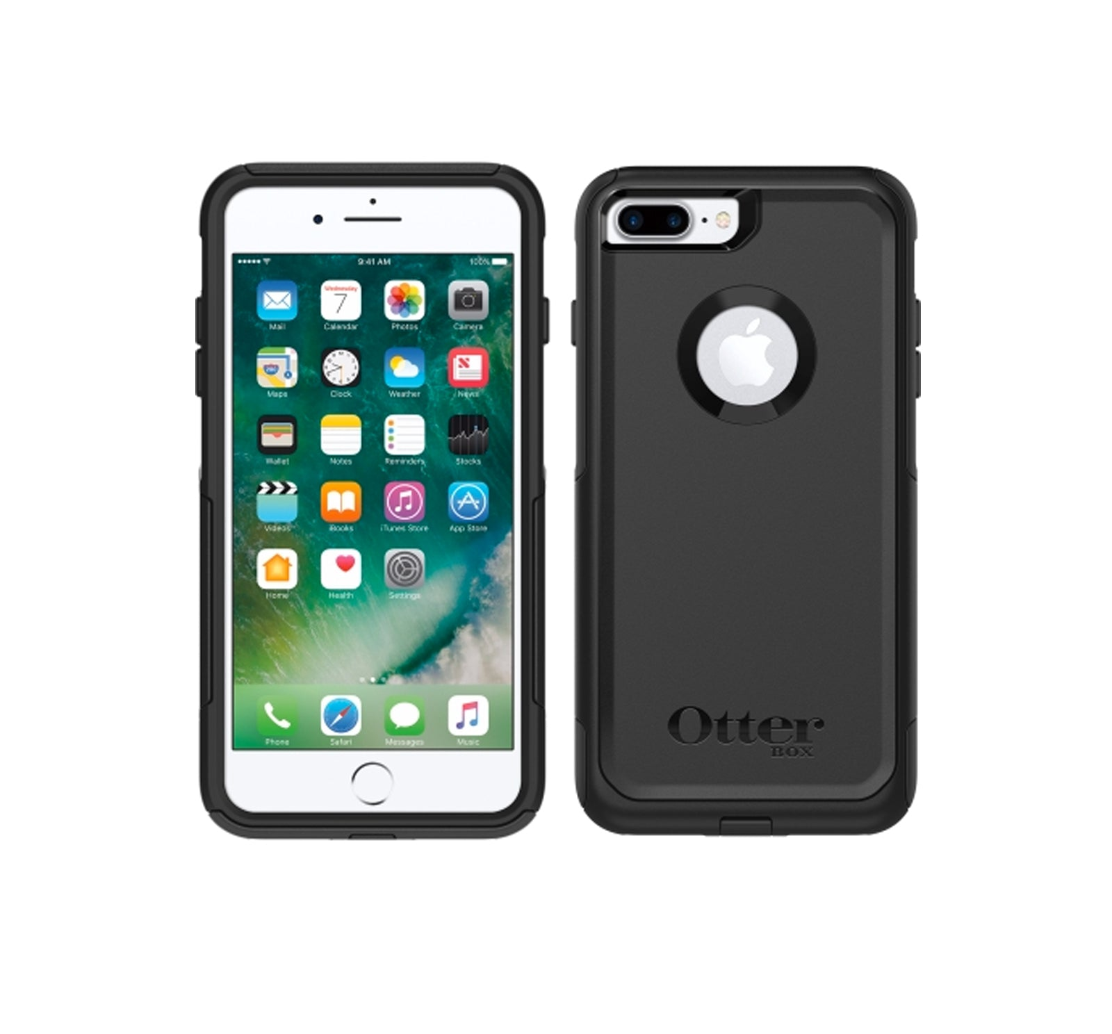 on sale e30f8 036cc OtterBox Commuter iPhone 7 Plus Case - Black