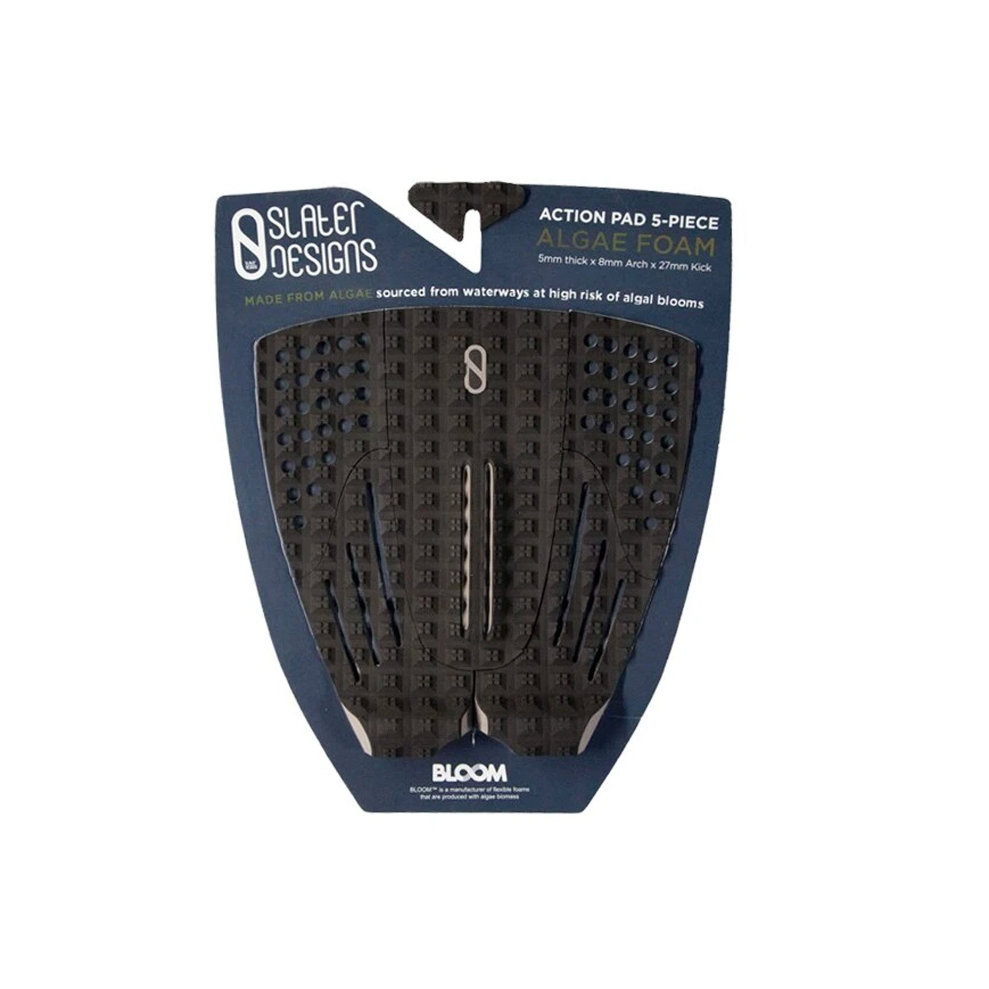 Slater Designs Action 5-Piece Arch Traction Pad - Black/Grey