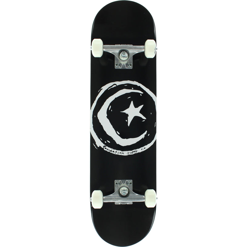 "Found Star and Moon 8.0"" Complete Skateboard - Black"