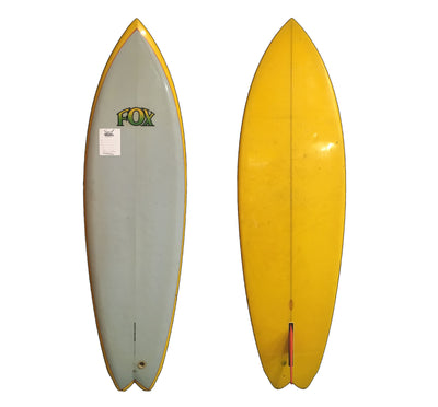 Fox Single Fin 6'2 x 20 3/4 x 3 Used Collector Surfboard