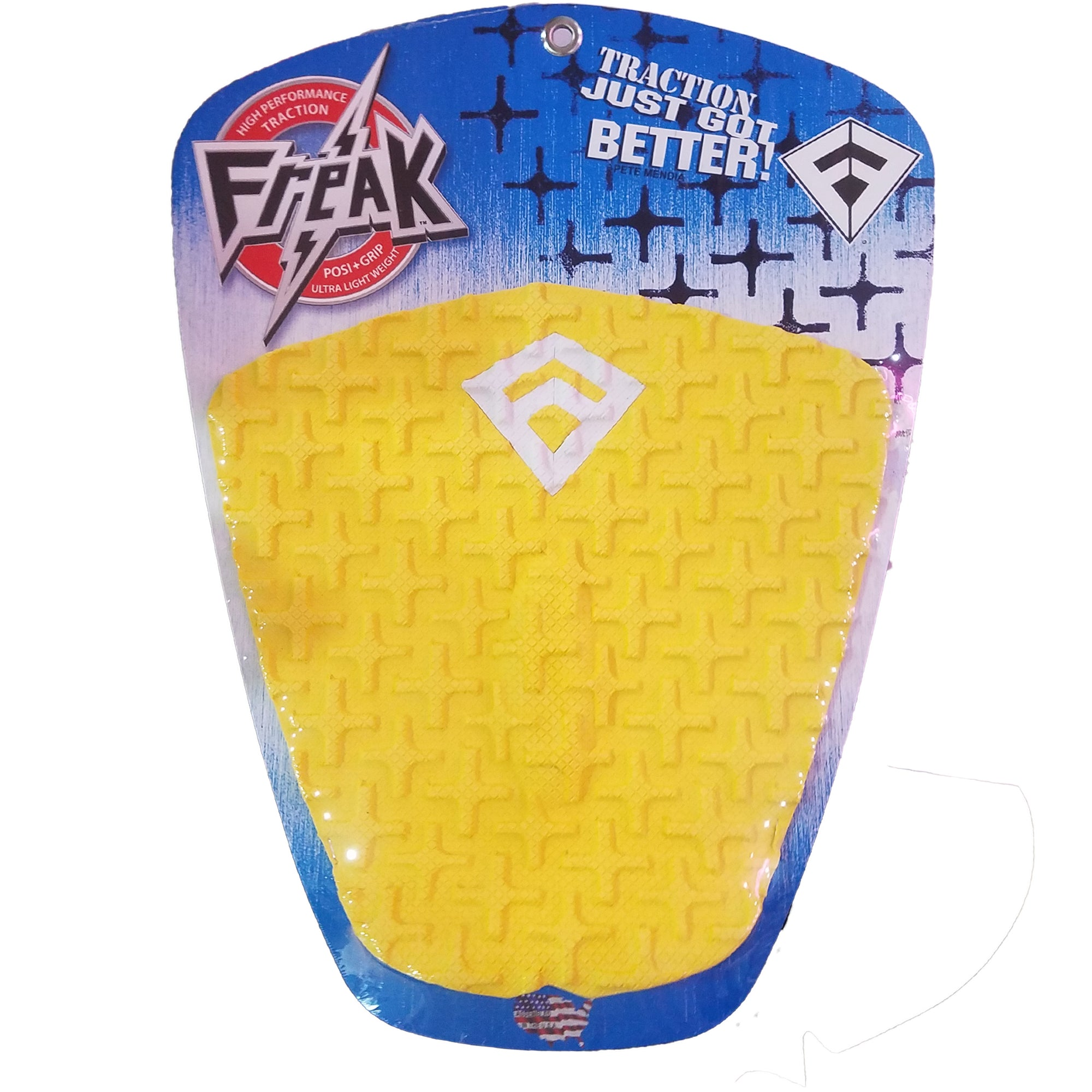Freak Peter Mendia II 1-Piece Flat Traction Pad - Yellow