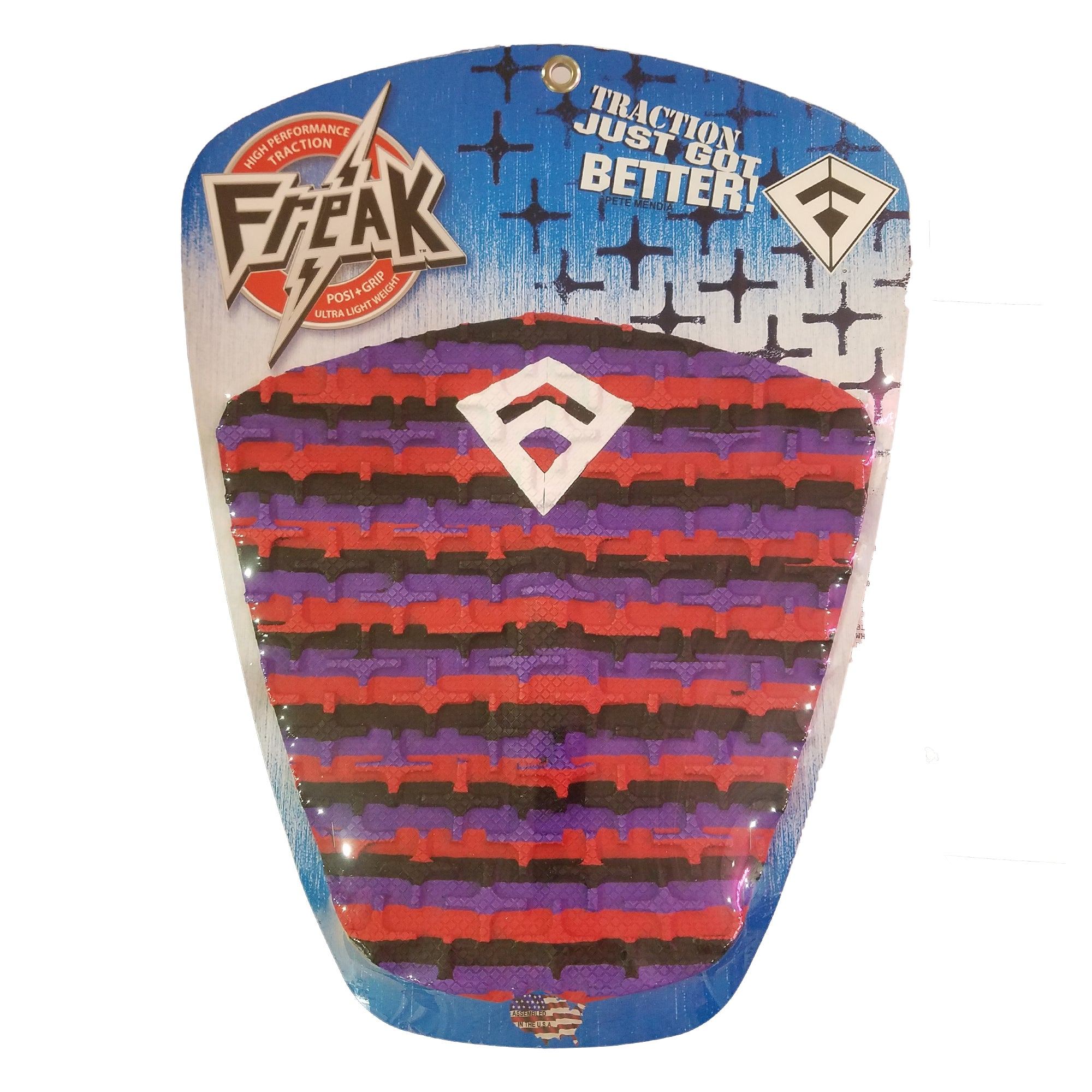 Freak Peter Mendia 3-Piece Traction Pad - Red/Purple/Black
