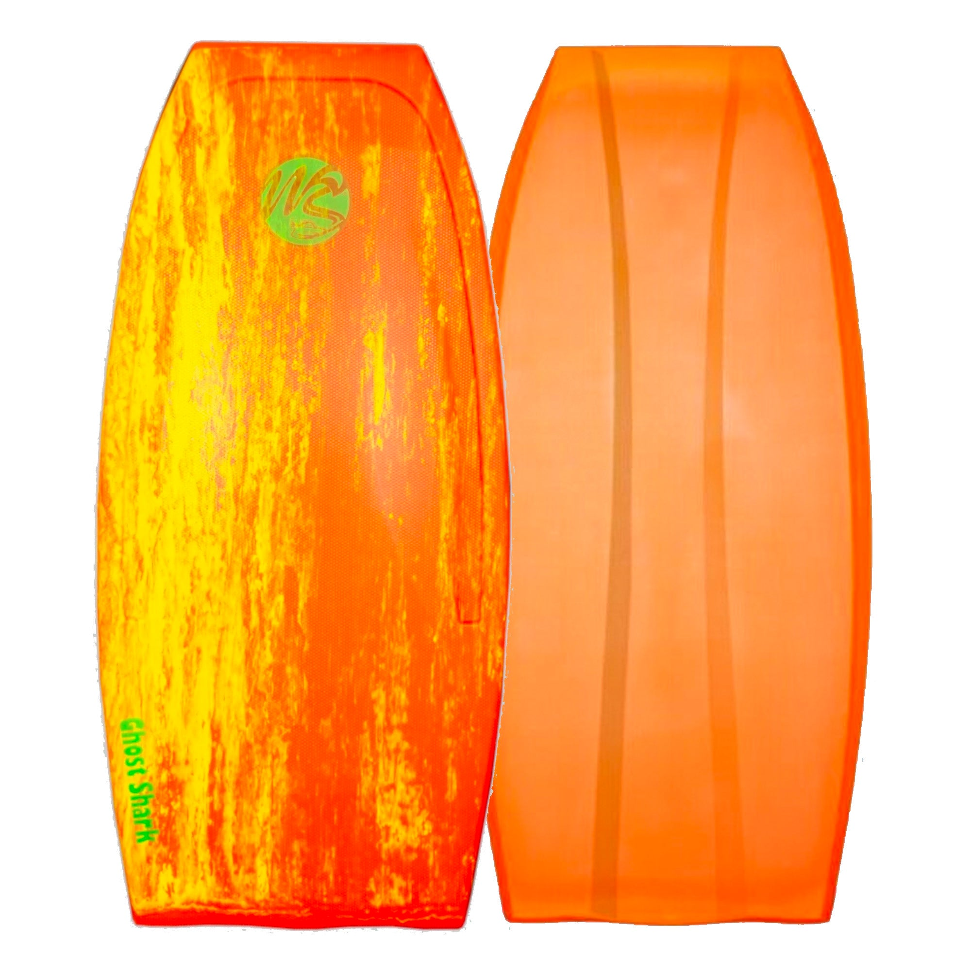 Wave Skater Pro Ghost Shark Bodyboard - Red/Yellow