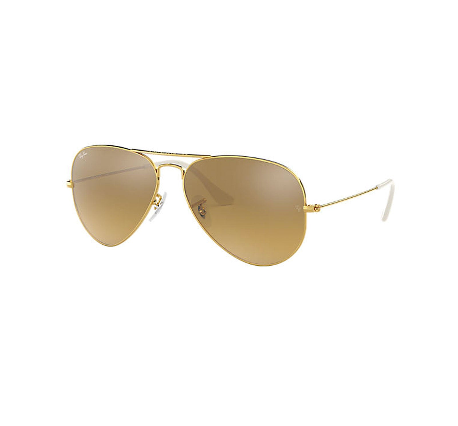 Ray-Ban Aviator Women's Sunglasses - Gold/Brown