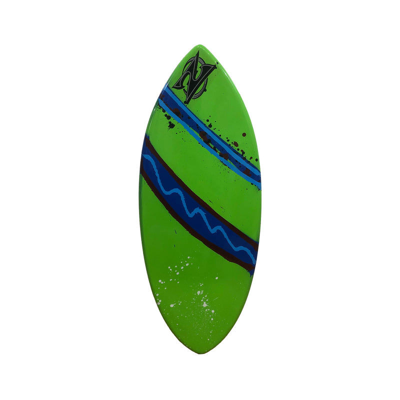 "Zap 49"" Wedge Skimboard - Green / Blue Stripe"