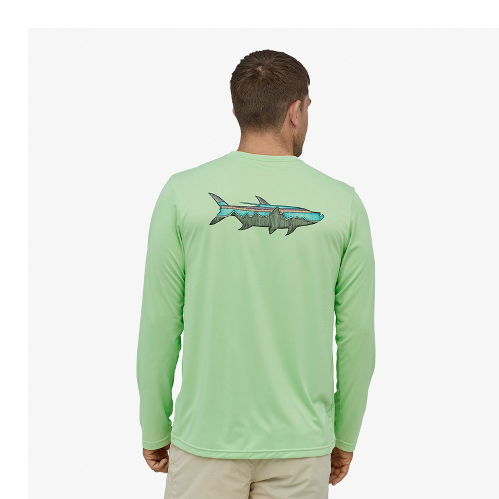 Patagonia Capilene Cool Daily Fish Men's L/S T-Shirt