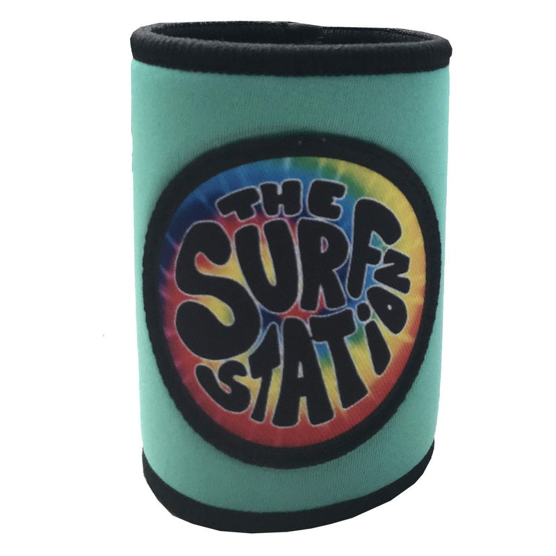 Surf Station Hippie Cruzie Neoprene Can Koozie Black