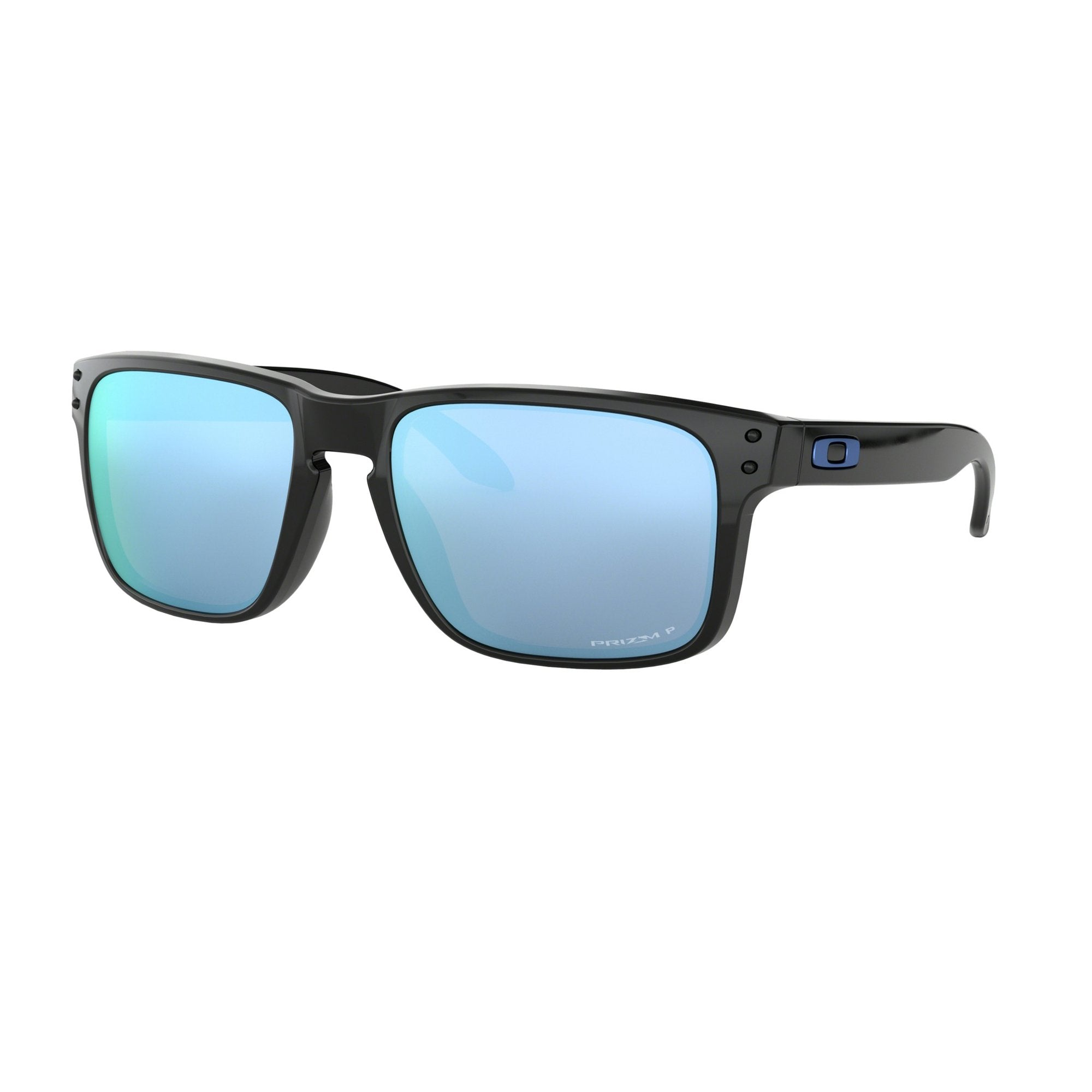 Oakley Holbrook Men's Sunglasses - Polarized - Polished Black/Prizm Deep Water