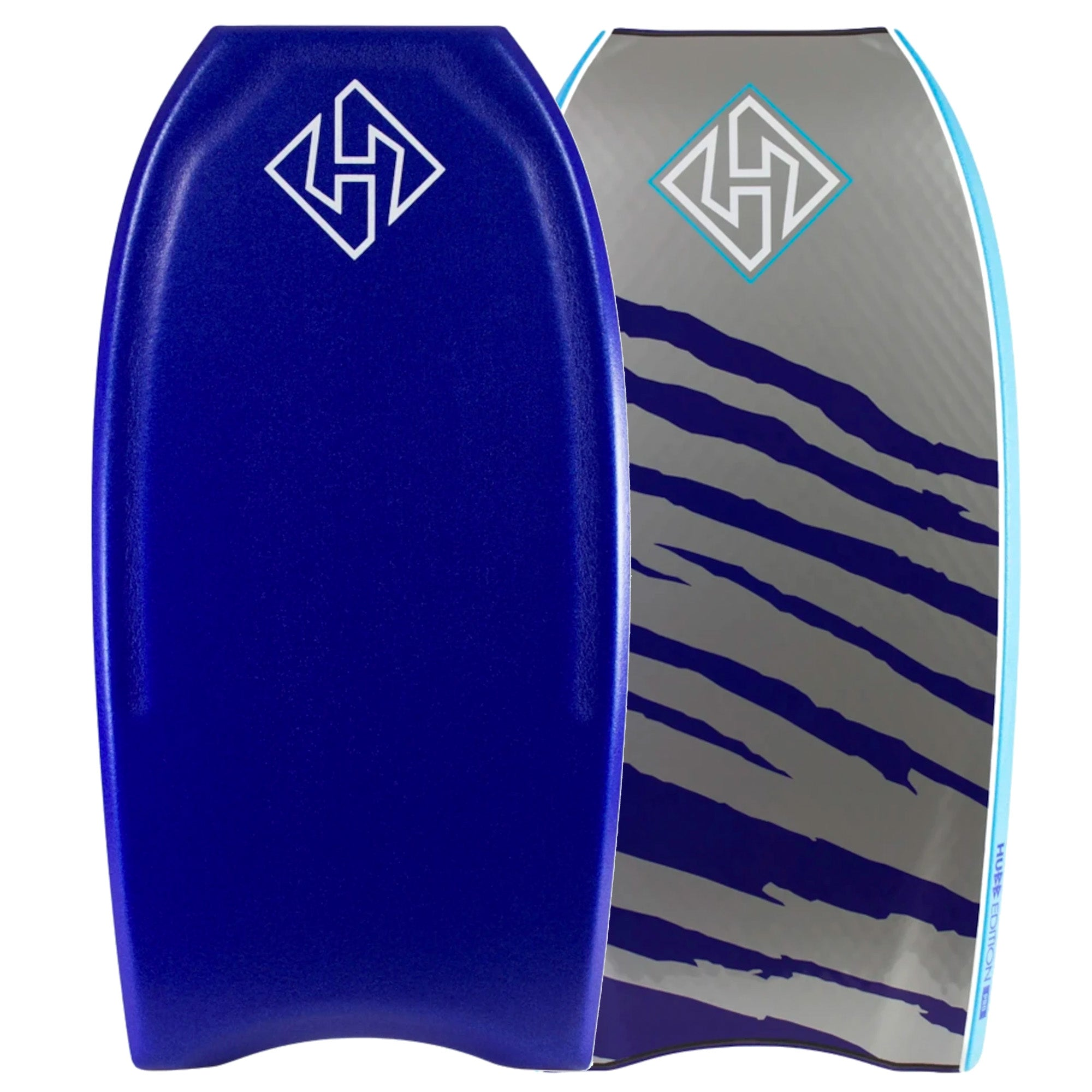 Hubboards Hubb PP PRO Crescent Tail 42'' Bodyboard - Blue/Grey