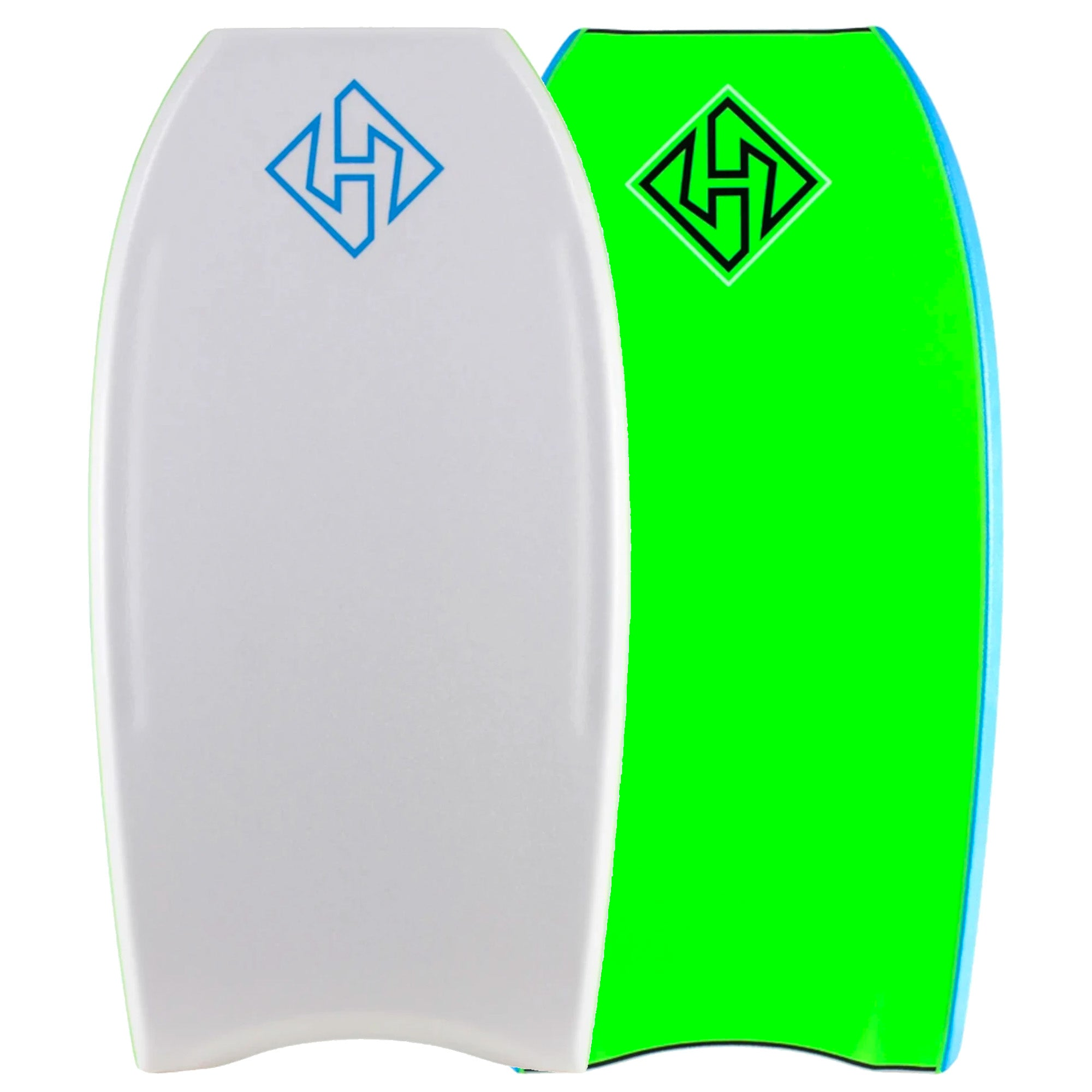 Hubboards Hubb PP PRO Crescent Tail 41'' Bodyboard - White/Green