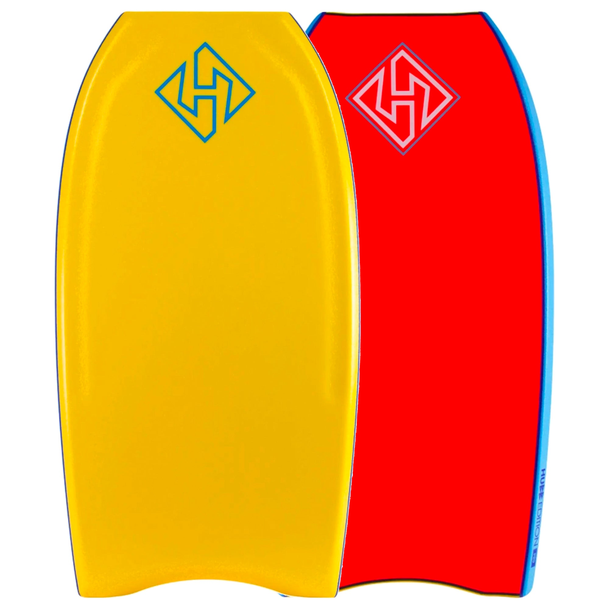 Hubboards Hubb PP PRO Crescent Tail 43'' Bodyboard - Orange/Red