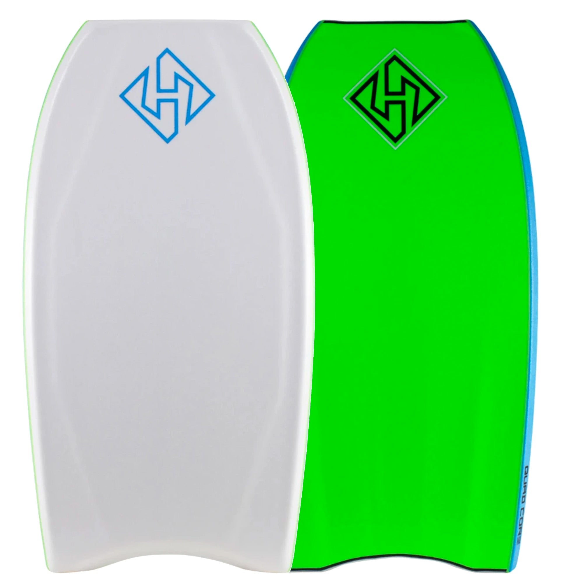 "Hubb Quad Core Sci-Five Crescent Tail 41.5"" Bodyboard - White/Green"