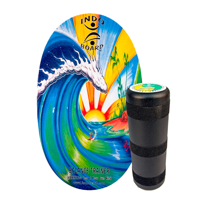 Indo Board Original Deck and Roller Kit - Bamboo Beach