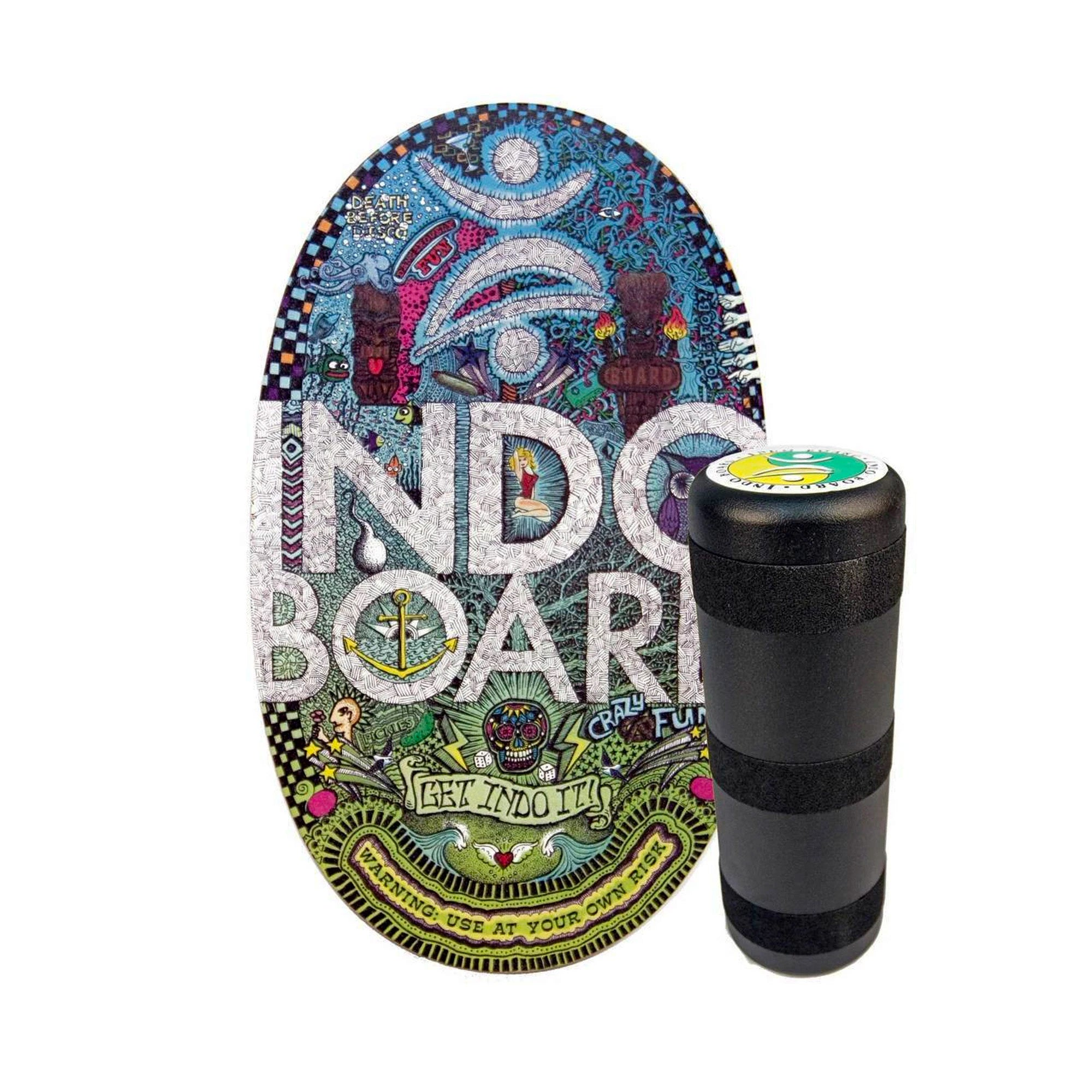 Indo Board Original Deck and Roller Kit - Doodles