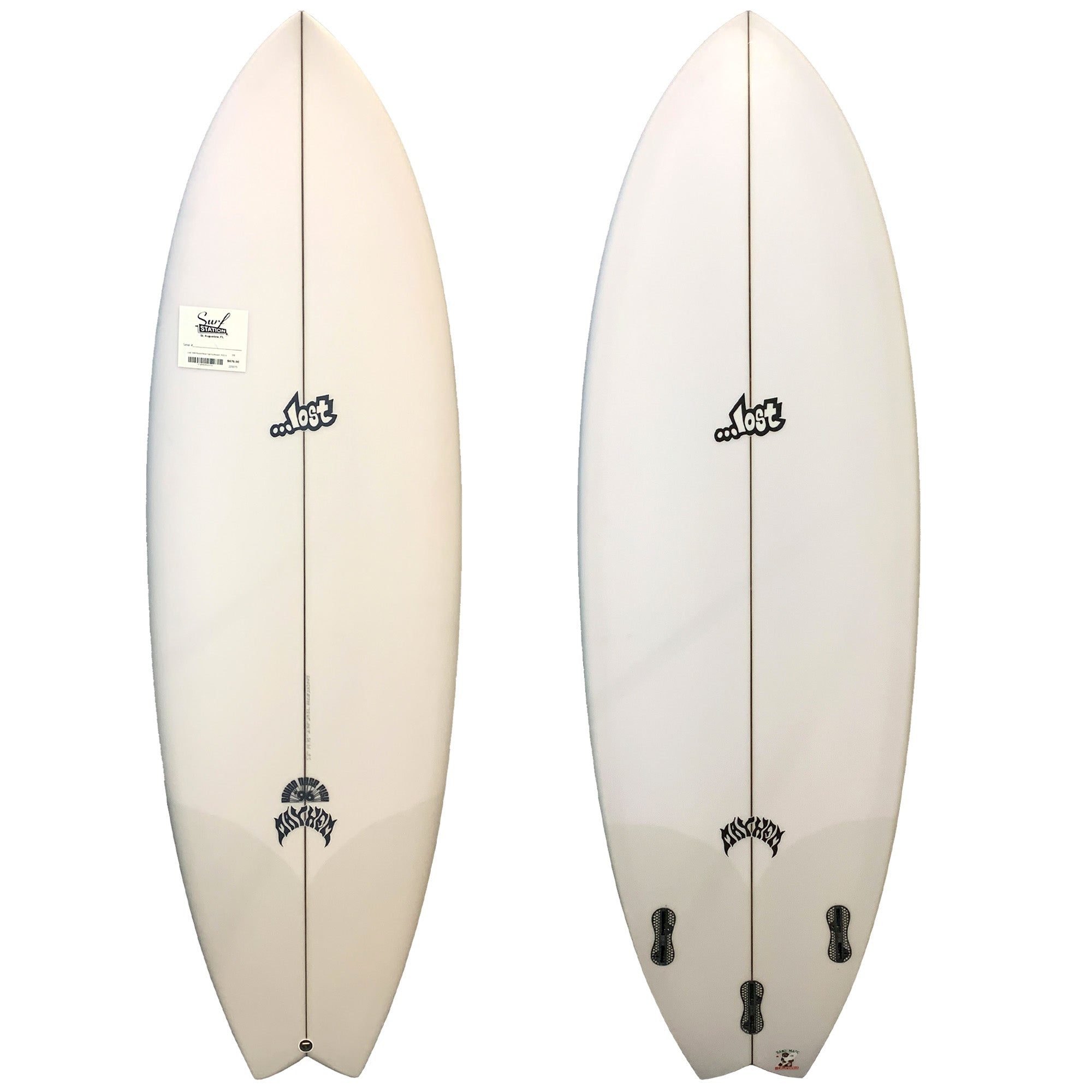 Lost Round Nose Fish '96 Surfboard - FCS II