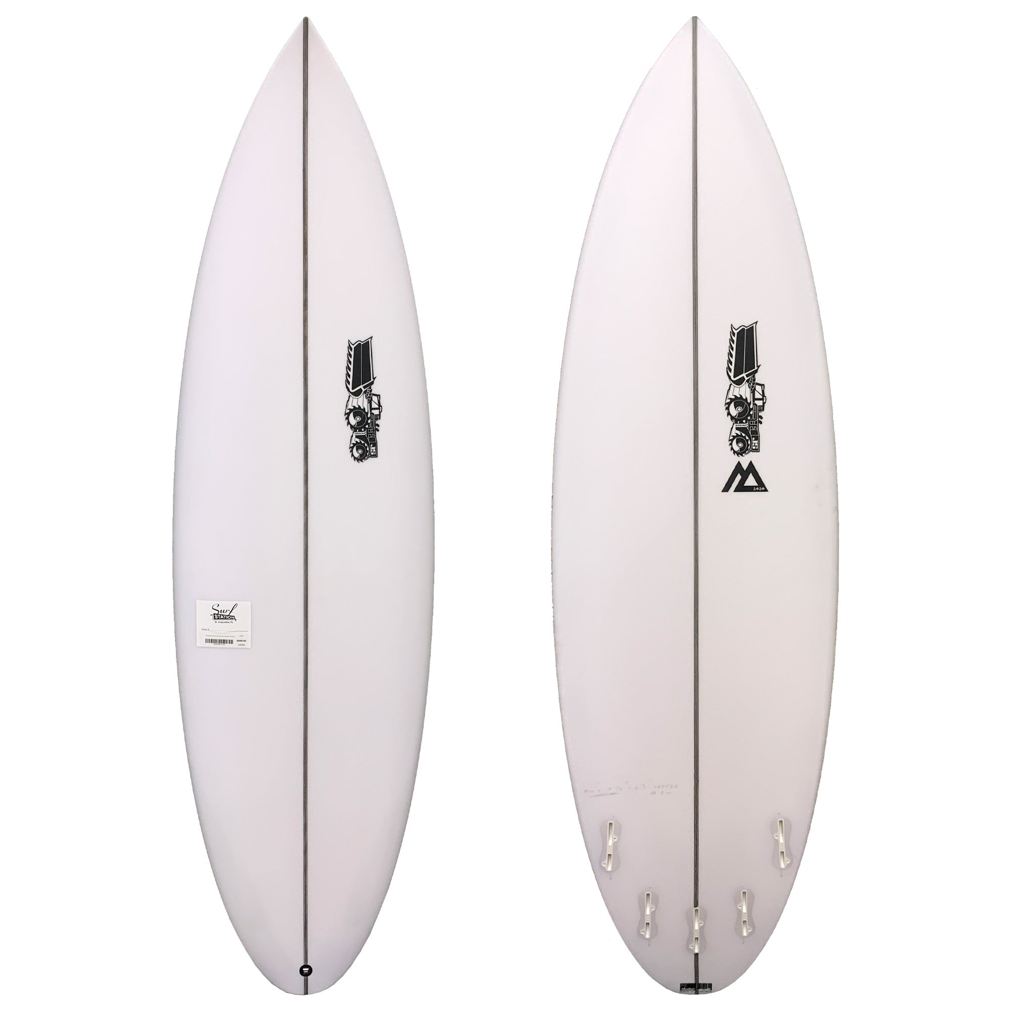 JS Monsta 2020 Round Tail Easy Rider Surfboard - FCS II