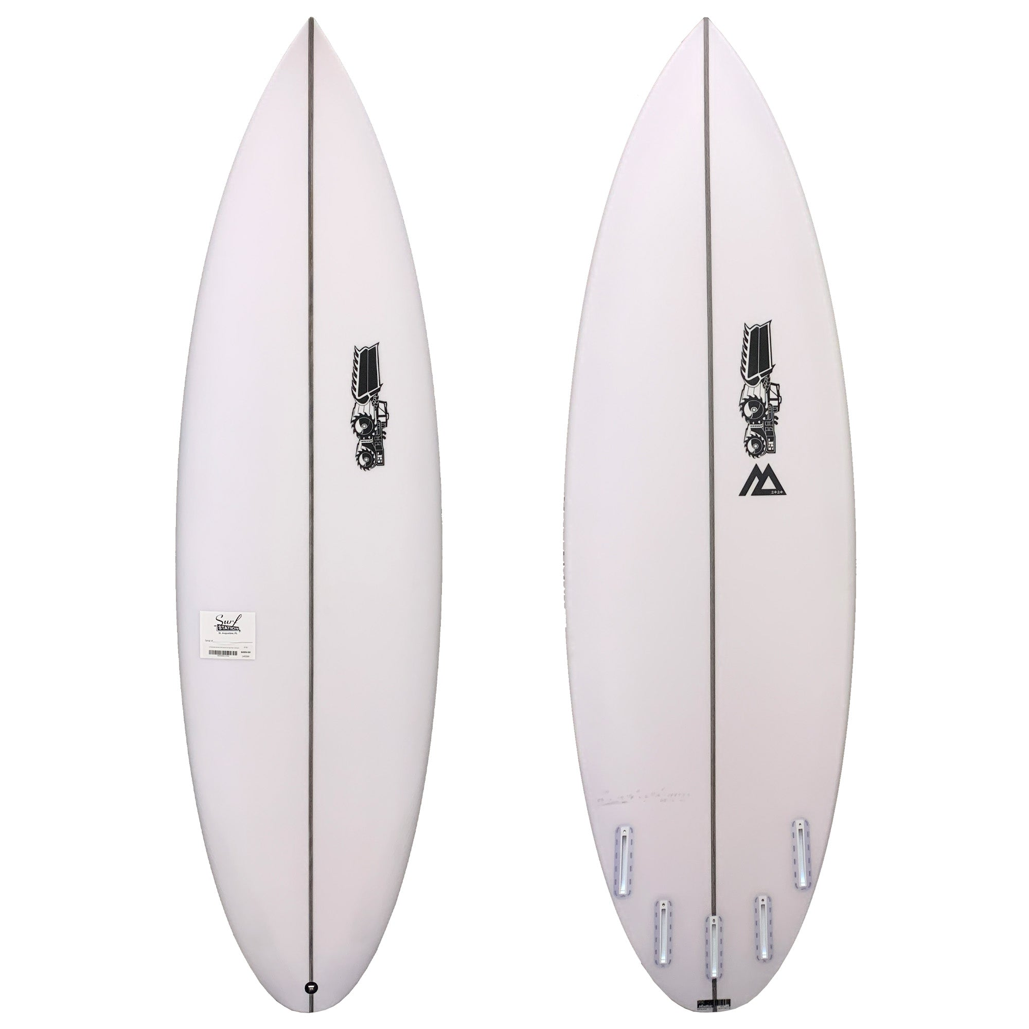 JS Monsta 2020 Round Tail Easy Rider Surfboard - Futures
