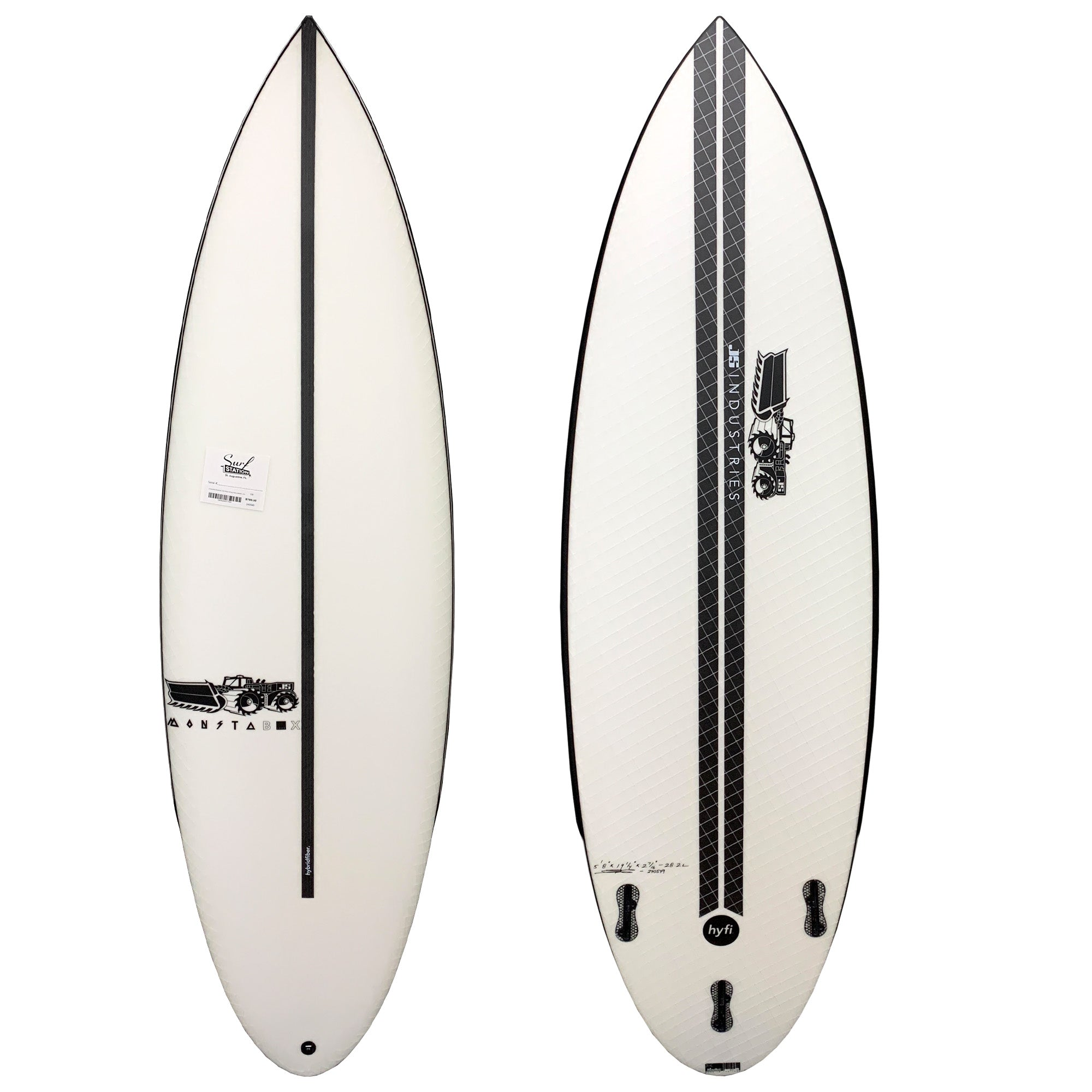 JS Industries Monsta Box 2020 Round Tail Easy Rider Surfboard - HYFI