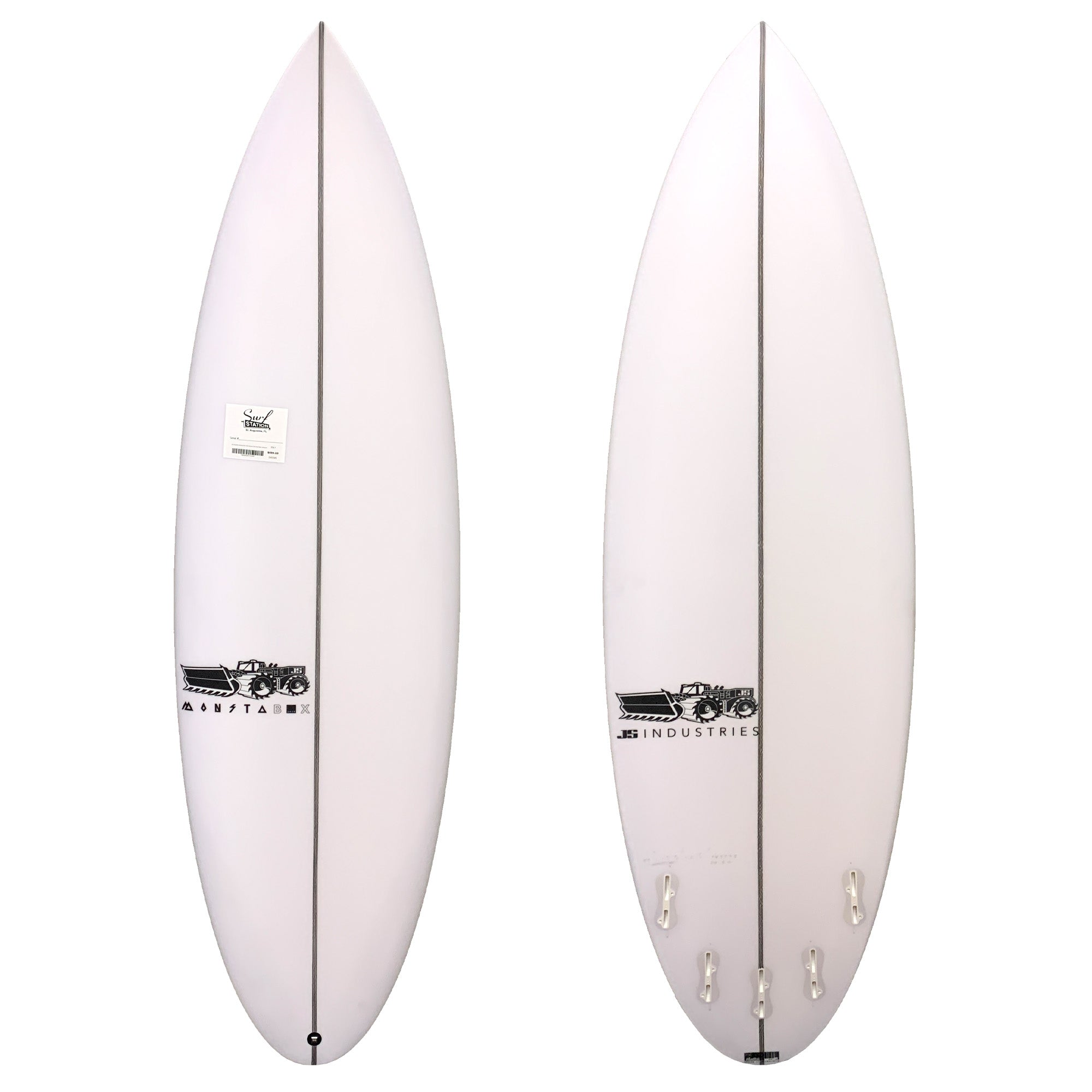 JS Monsta Box 2020 Round Tail Easy Rider Surfboard - FCS II