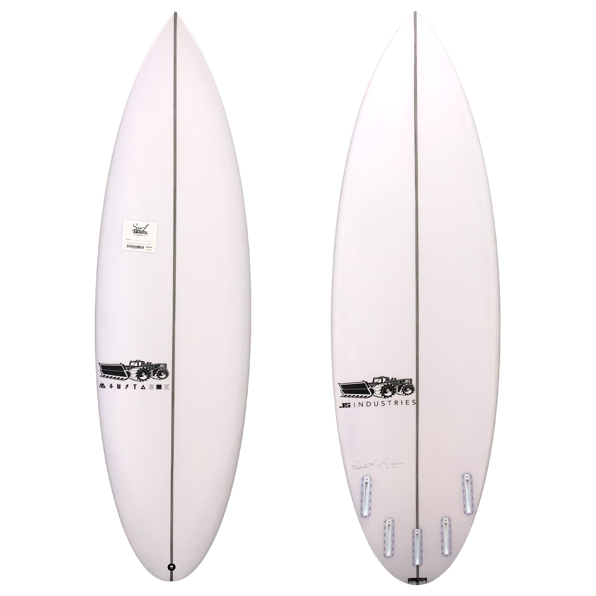 JS Monsta Box 2020 Round Tail Easy Rider Surfboard - Futures