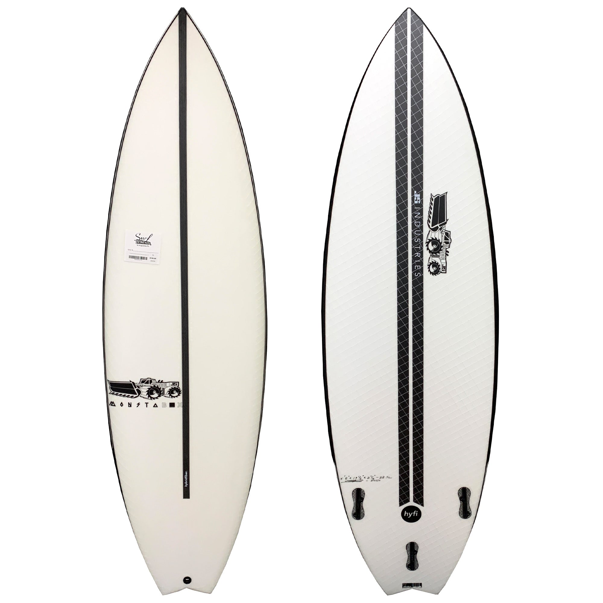 JS Monsta Box 2020 Swallow Tail HYFI Surfboard - FCS II