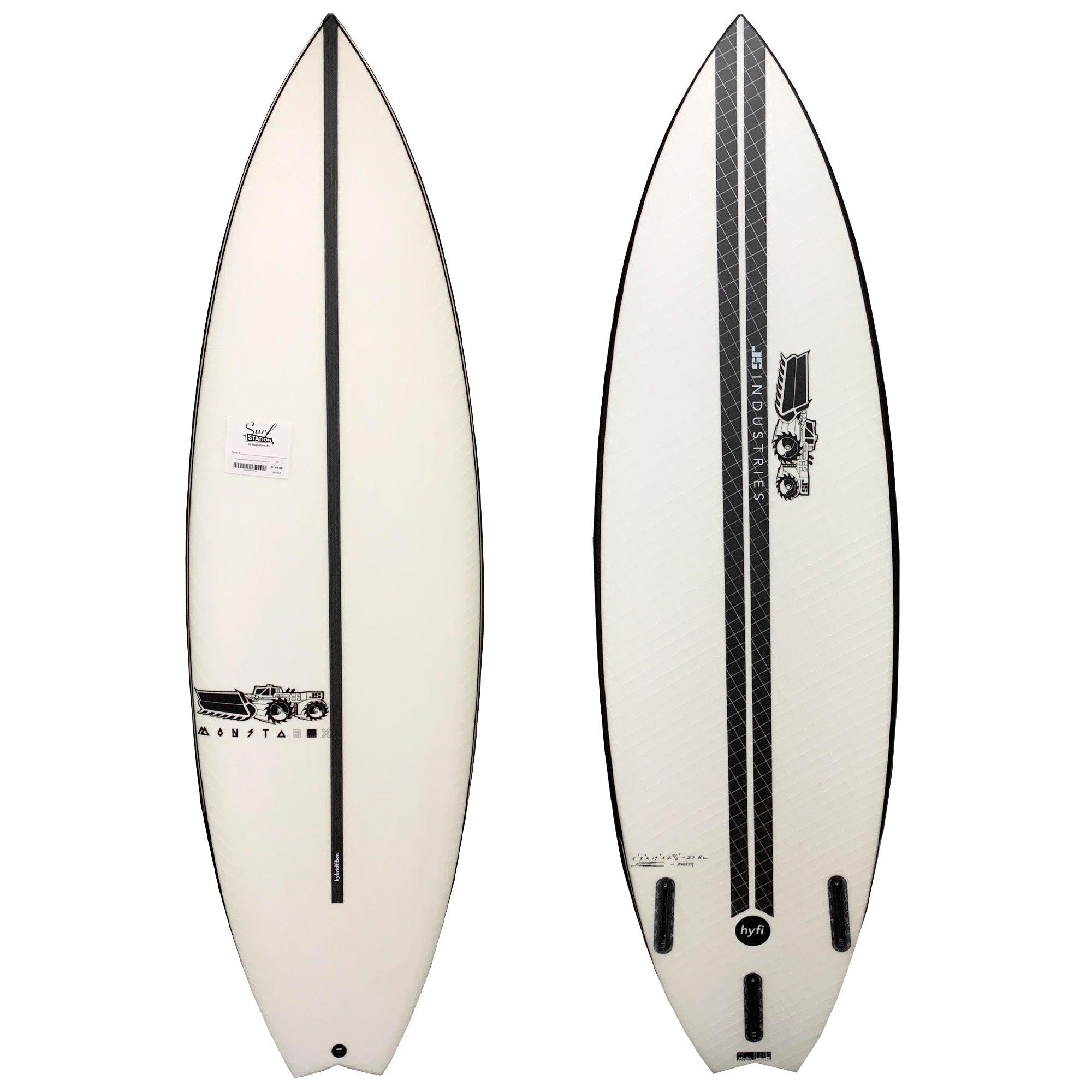 JS Monsta Box 2020 Swallow Tail Easy Rider HYFI Surfboard - Futures
