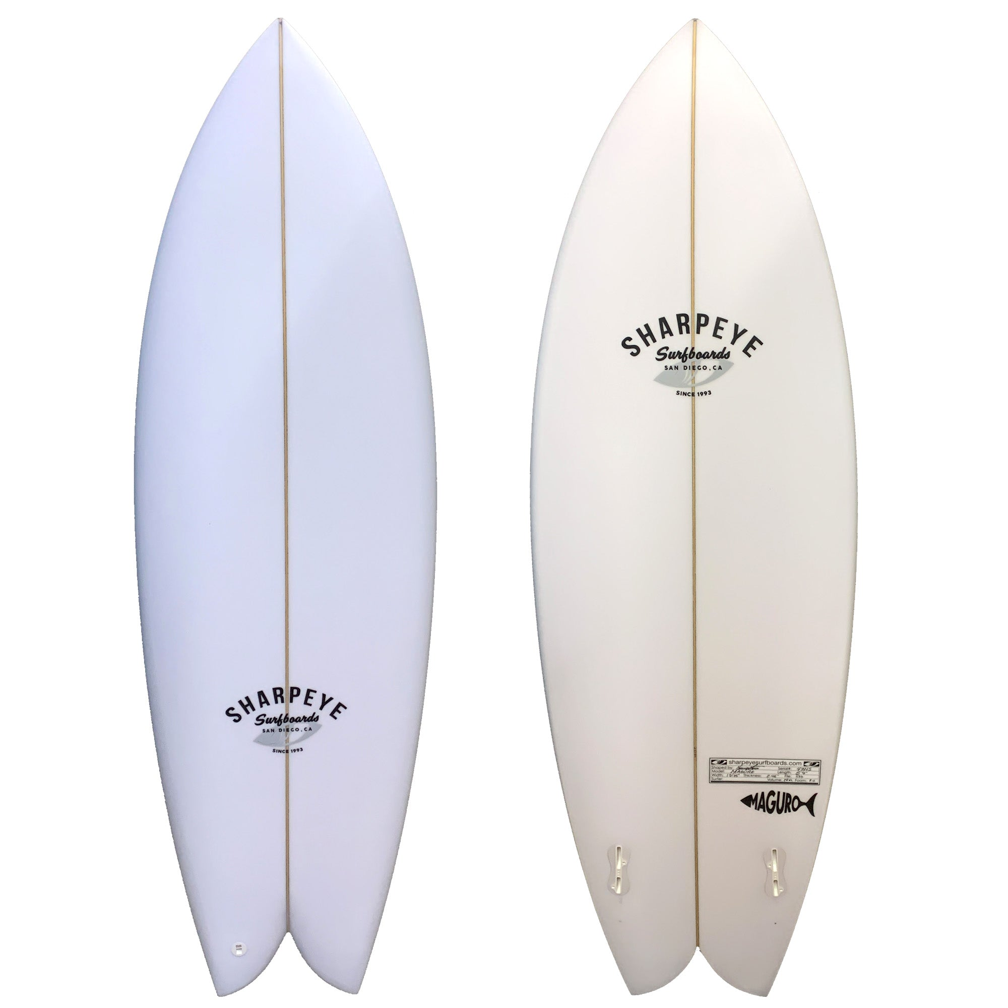 Sharp Eye Maguro Surfboard - FCS II