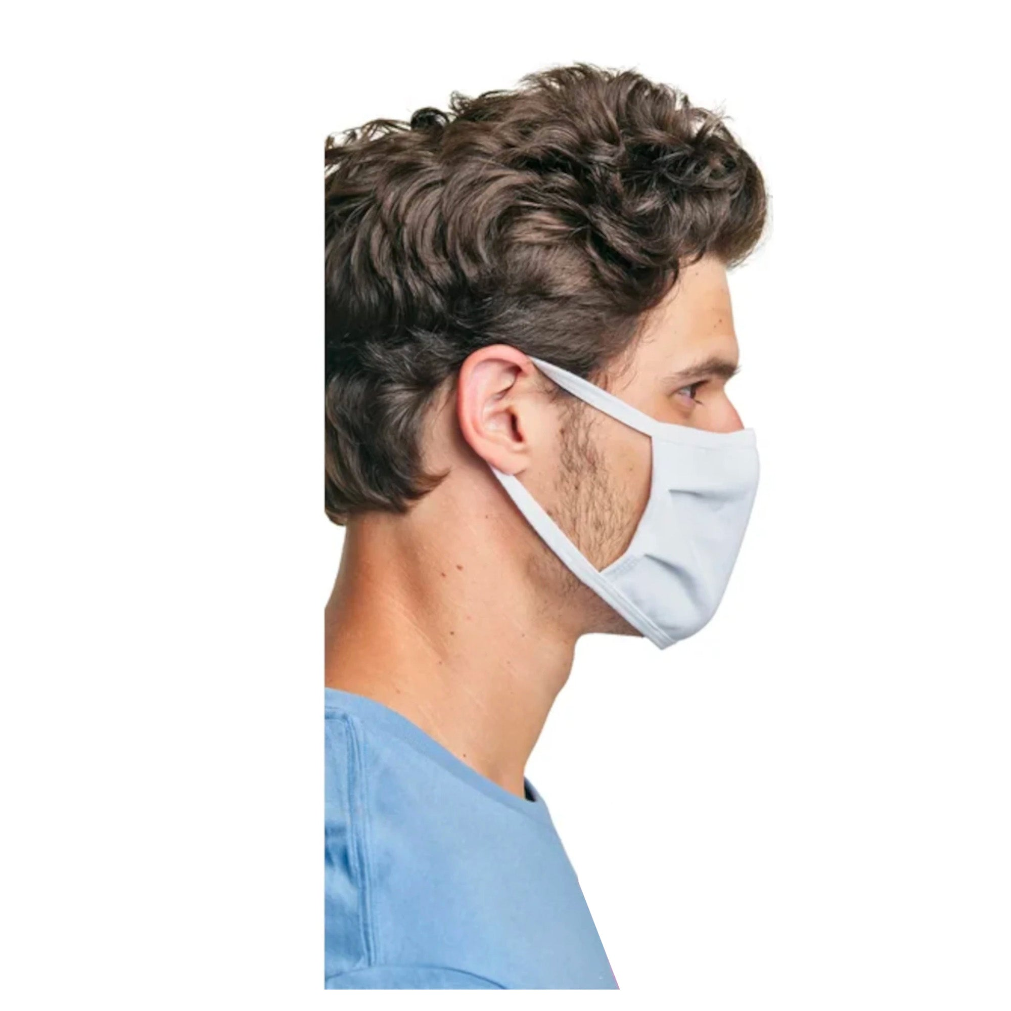Hanes Men's Face Mask - White