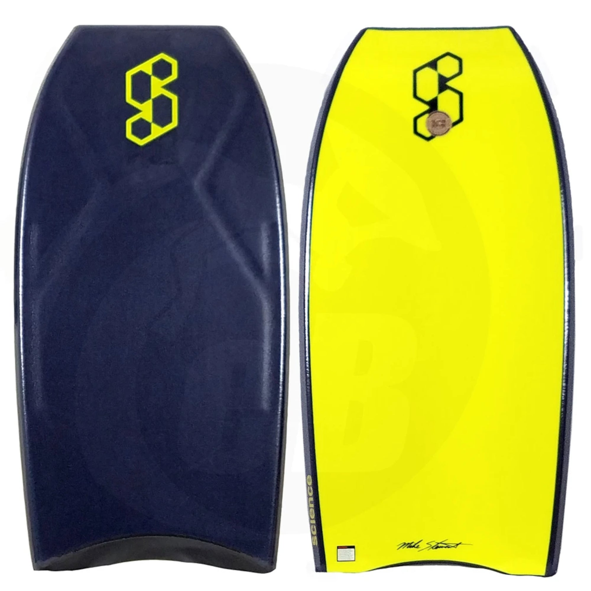 "Mike Stewart Science Pro Team PP 41.75"" Bodyboard - Midnight Blue/Fluoro Yellow"