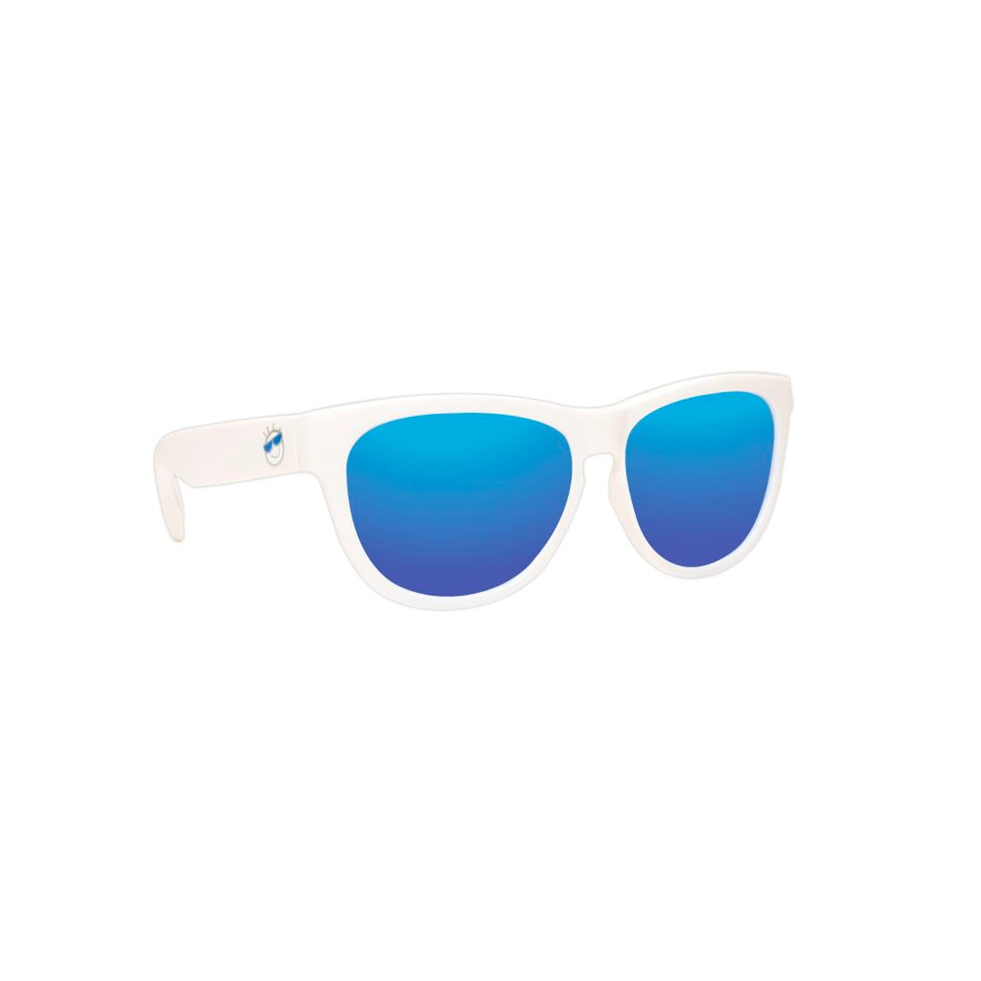 Mini Shades Classic Kid's Polarized Sunglasses (Ages 8-12+) - White Cloud