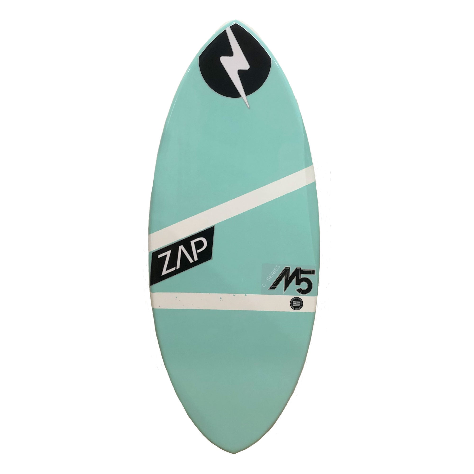 "Zap M5 51"" Skimboard - Light Blue / White Stripes"