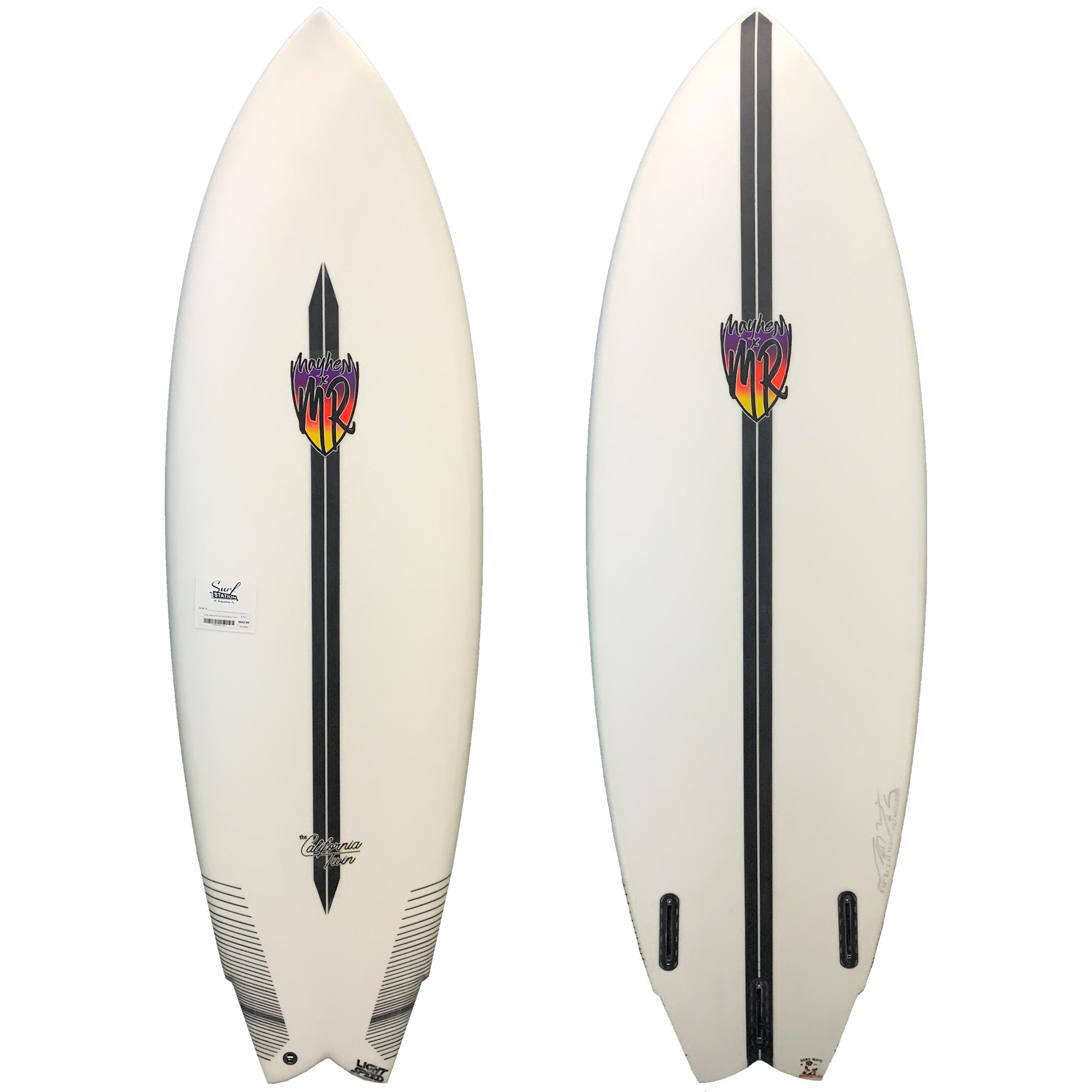 Lost MR California Twin Light Speed Surfboard - Futures