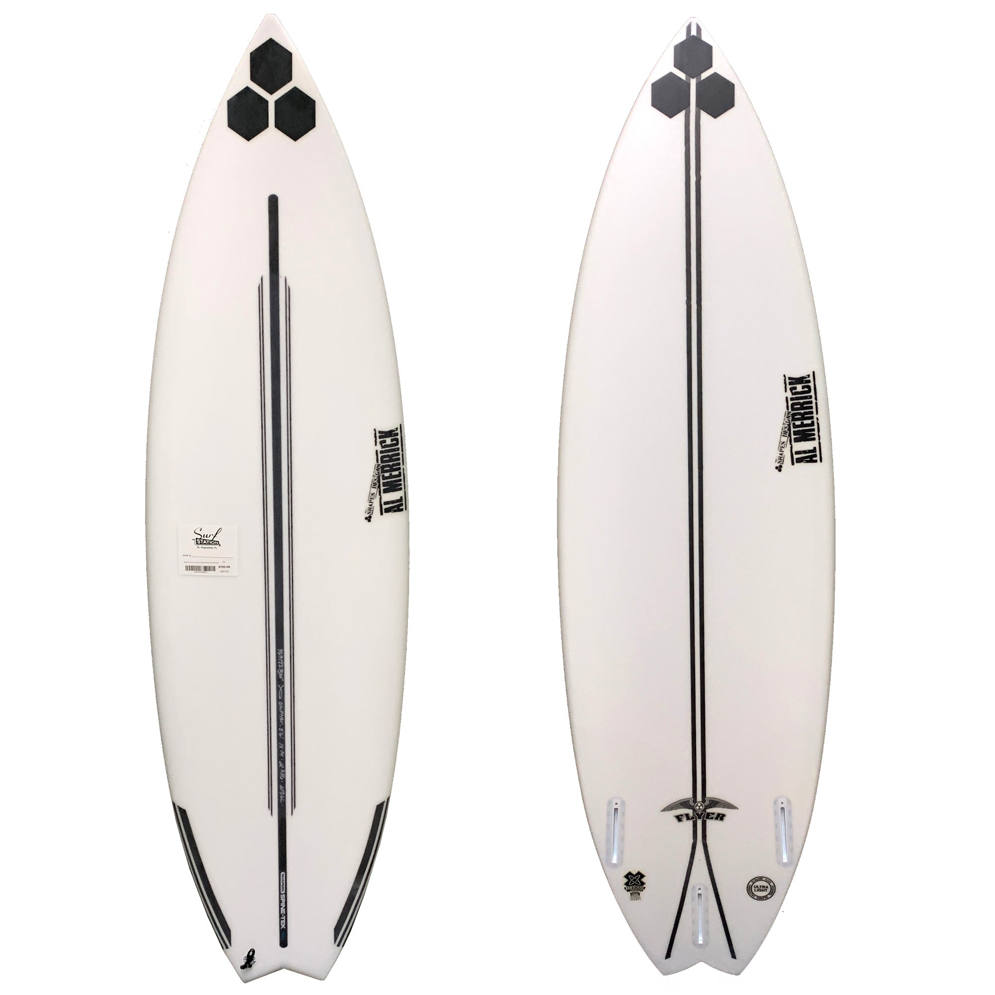 Channel Islands OG Flyer Swallow Spine-Tek Surfboard - Futures