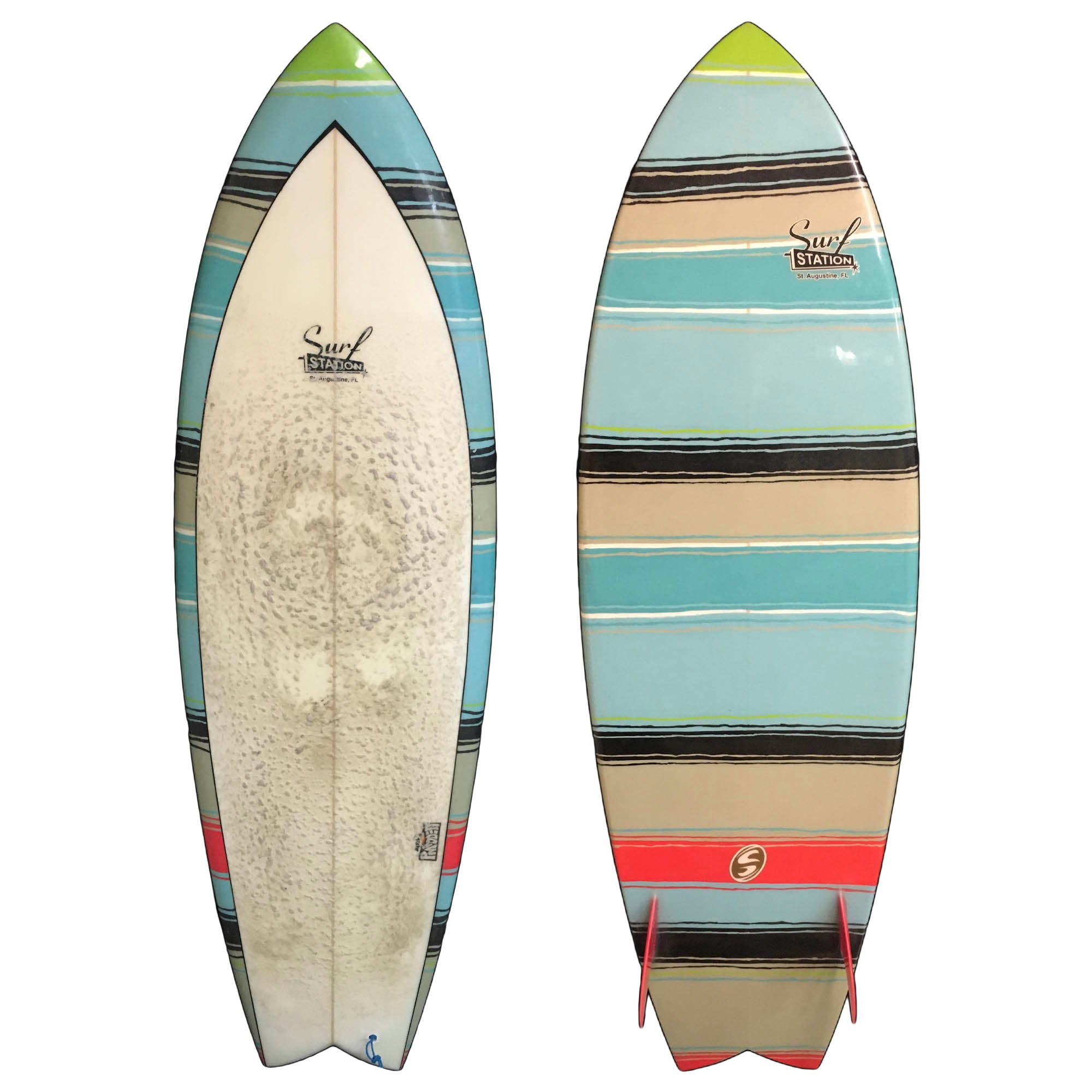 Surf Station Madden Mexi Blanket Fish 5'9 Used Surfboard